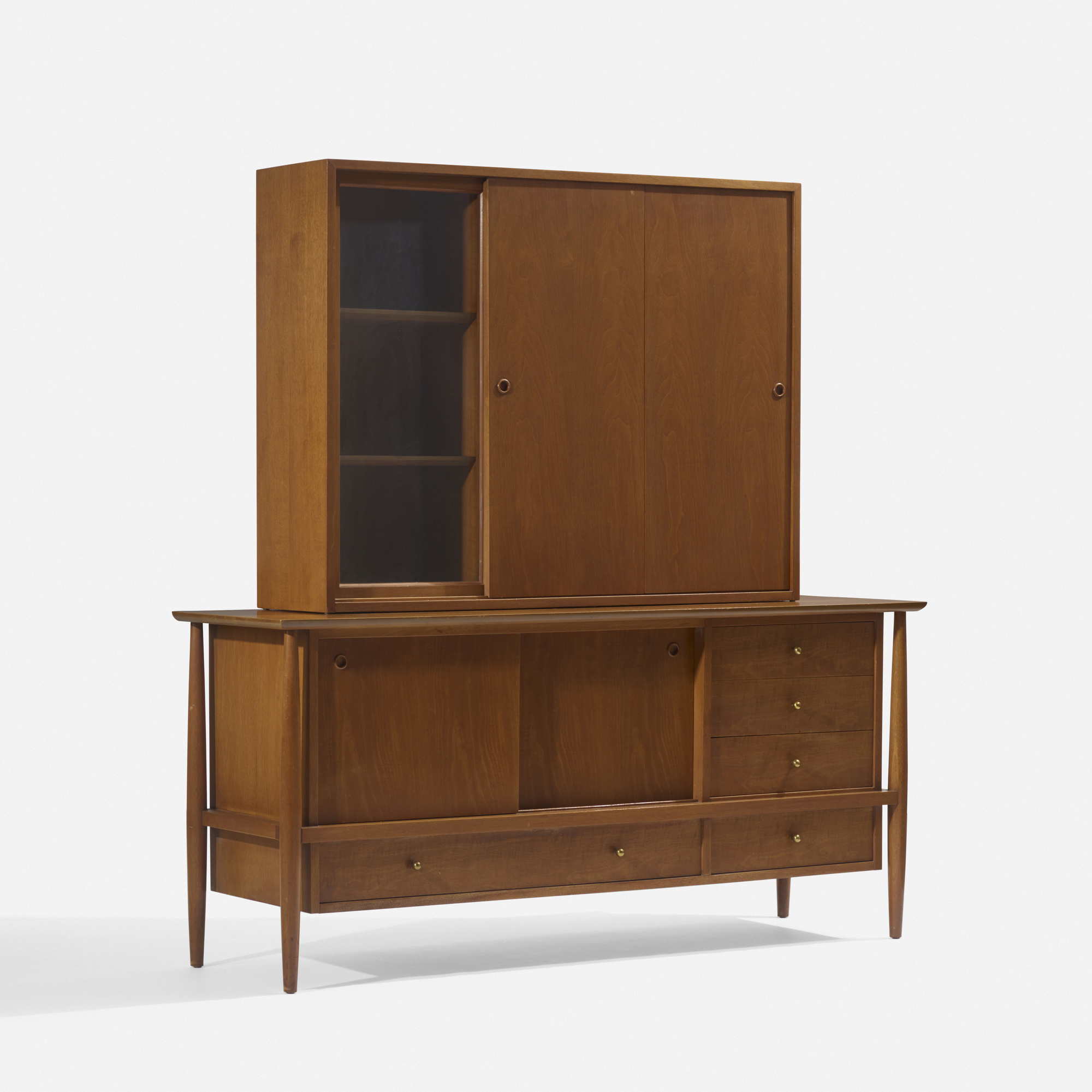 137: In the manner of Finn Juhl / credenza and cabinet (2 of 3)