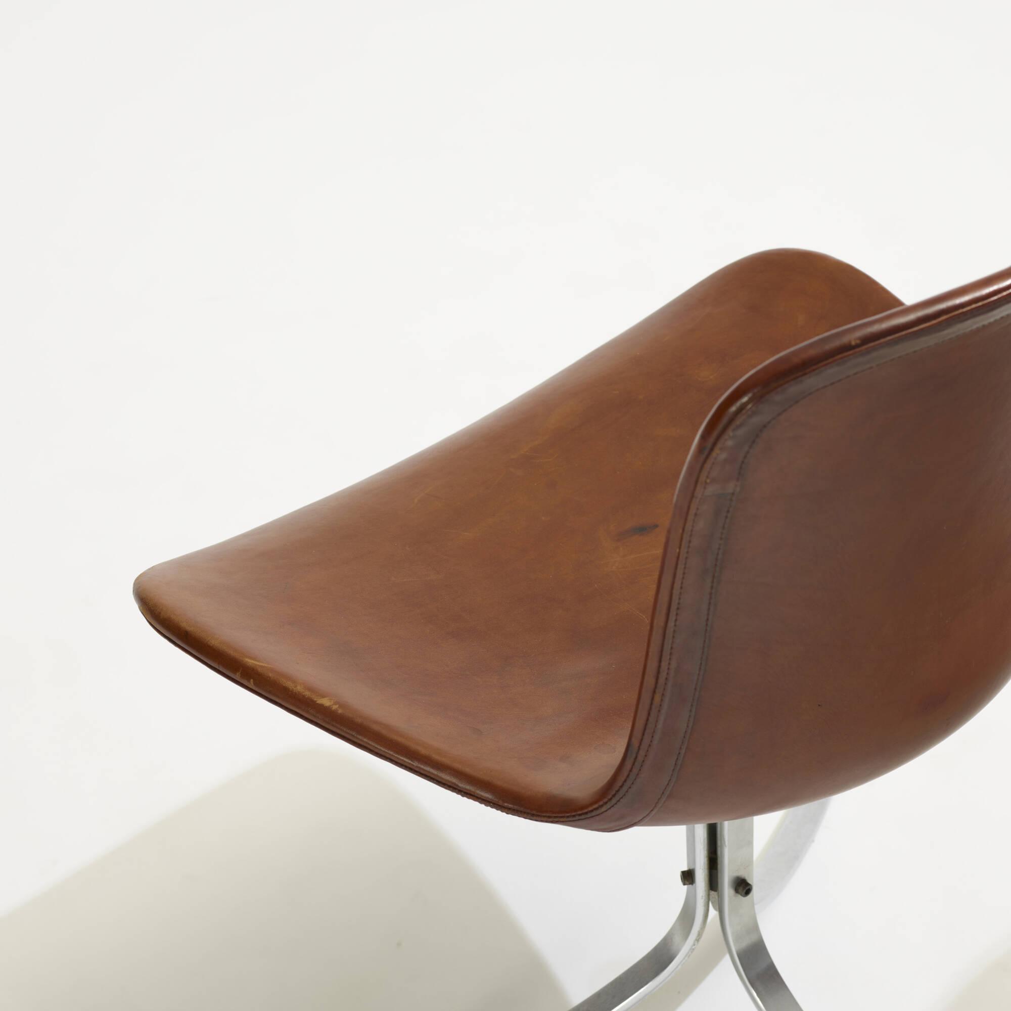137: Poul Kjaerholm / PK 9 chairs, pair (3 of 3)