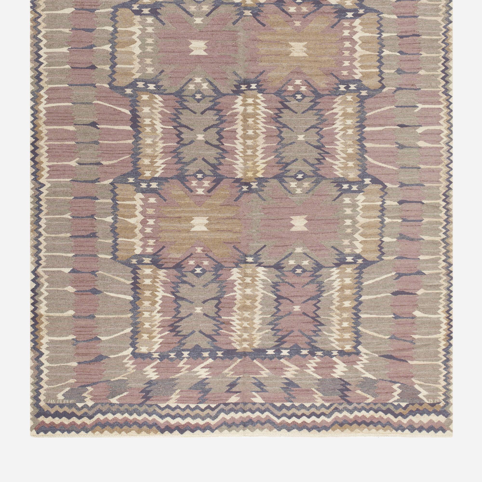 139: Barbro Nilsson / Strålblomman tapestry weave carpet (2 of 2)