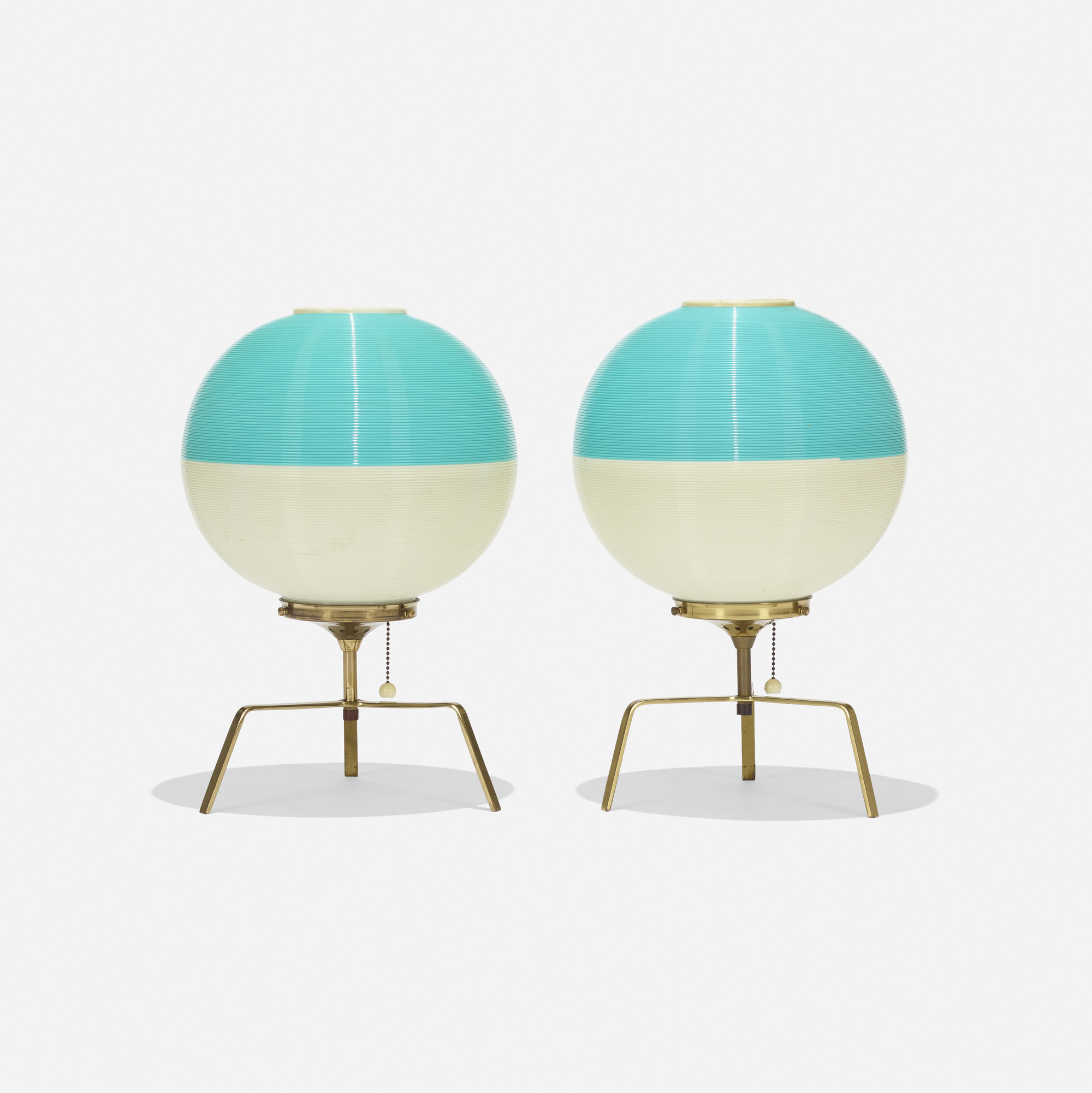 140: Yasha Heifetz / Rotaflex table lamps, pair (1 of 2)