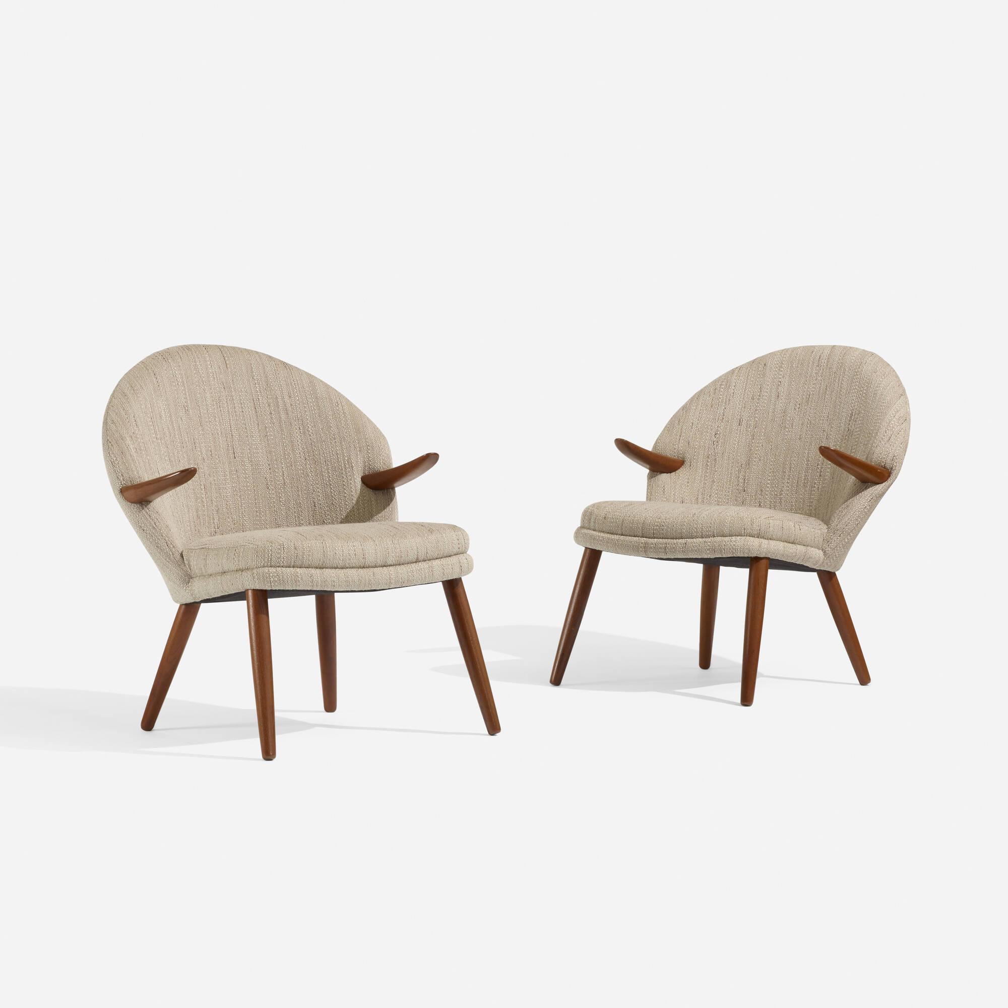 140: Kurt Olsen / lounge chairs, pair (1 of 3)
