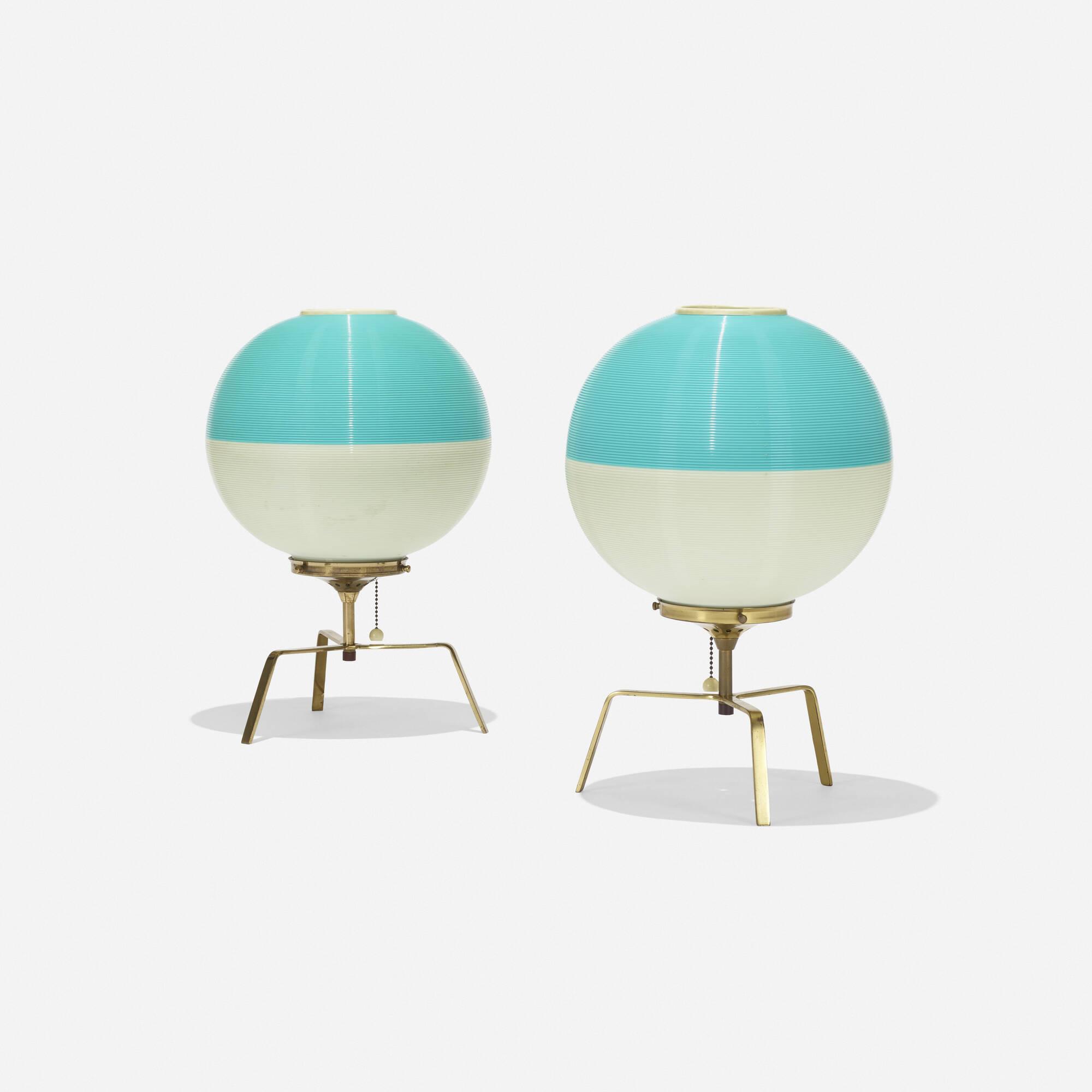 140: Yasha Heifetz / Rotaflex table lamps, pair (2 of 2)