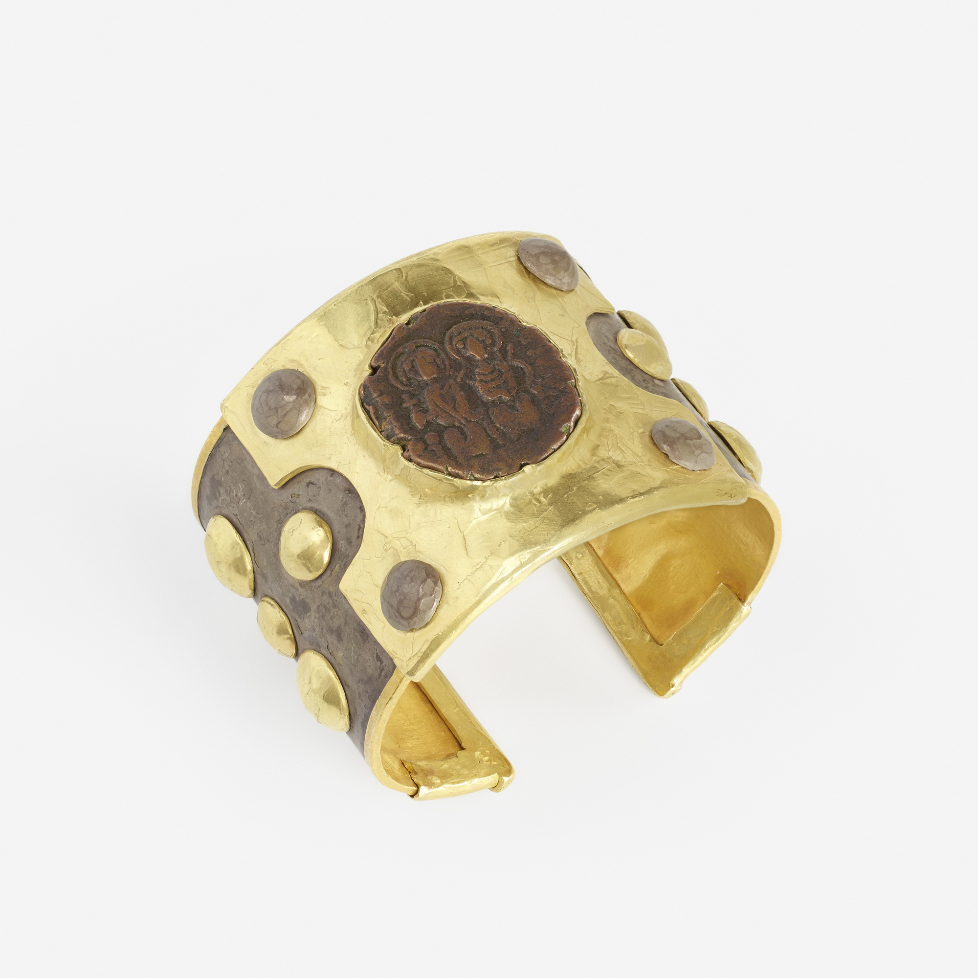 140:  / A gold and silver Byzantine coin cuff (2 of 2)
