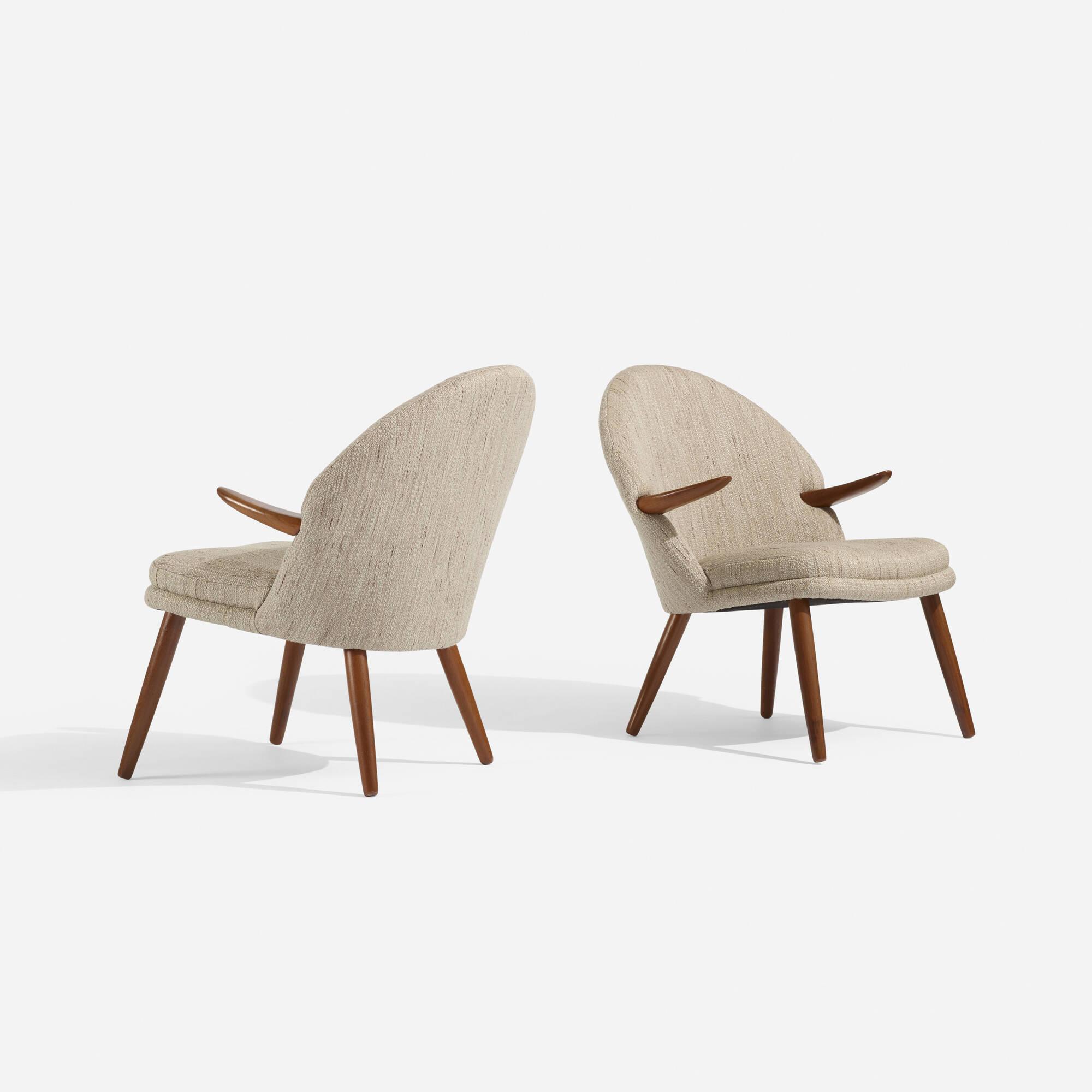 140: Kurt Olsen / lounge chairs, pair (2 of 3)