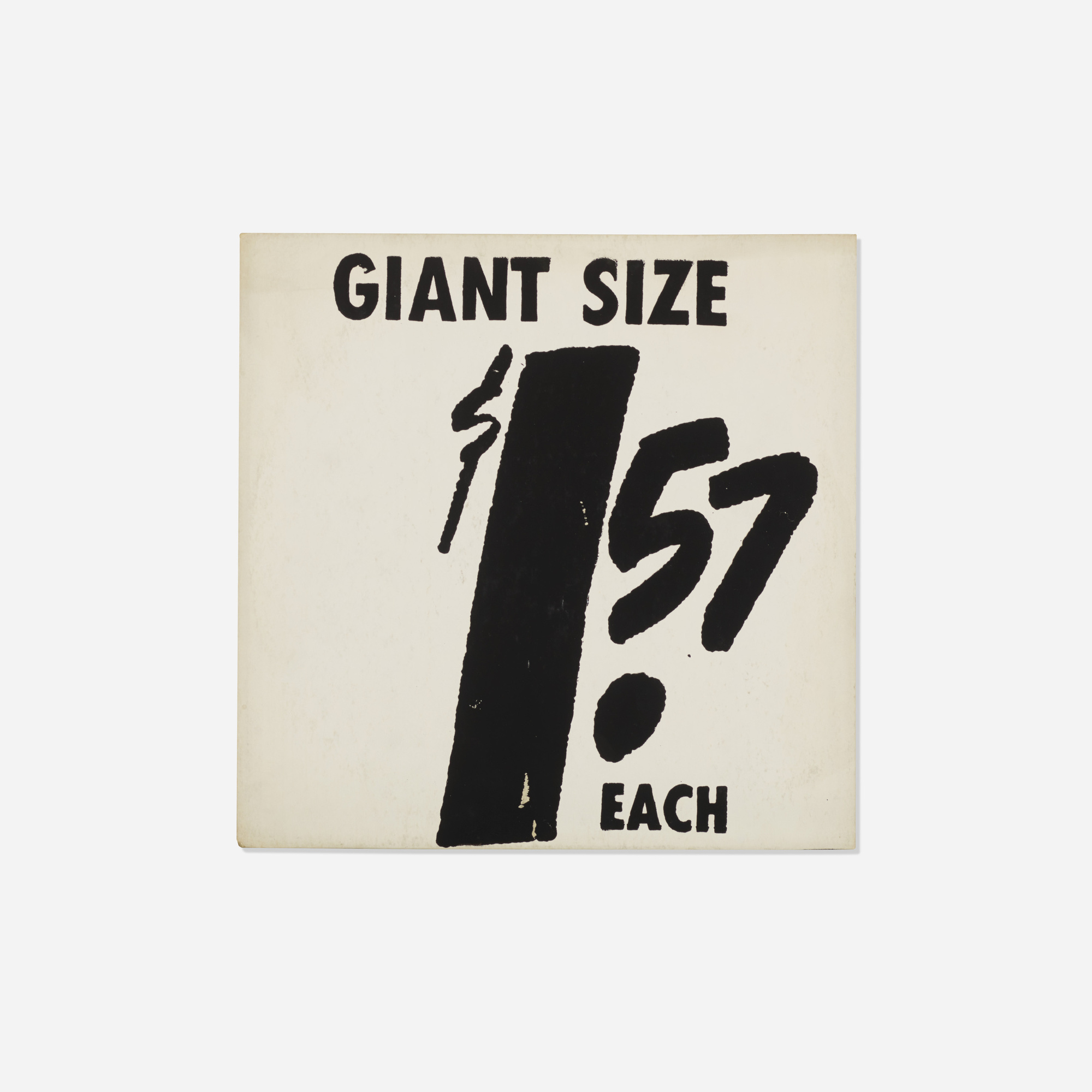 141: Andy Warhol / $ 1.57 Giant Size (1 of 2)