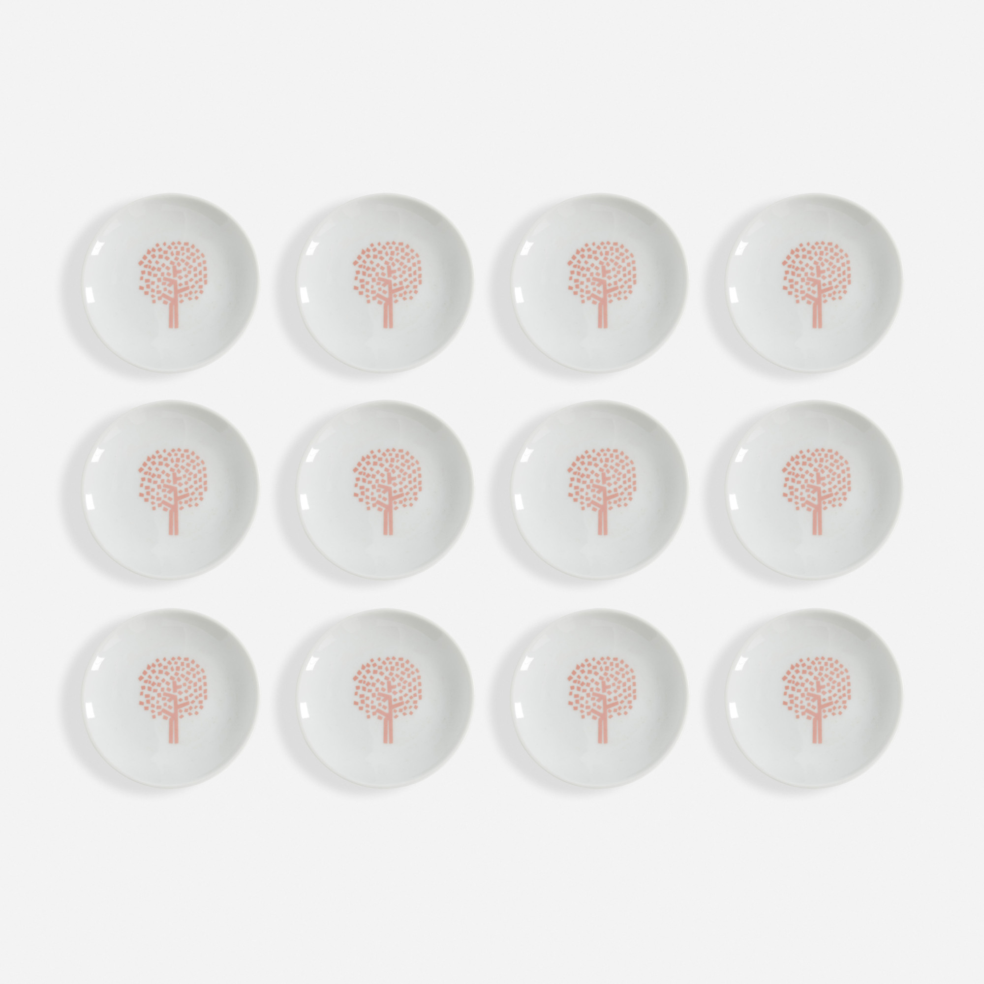 141:  / Four Seasons Spring ashtrays, set of twelve (1 of 1)