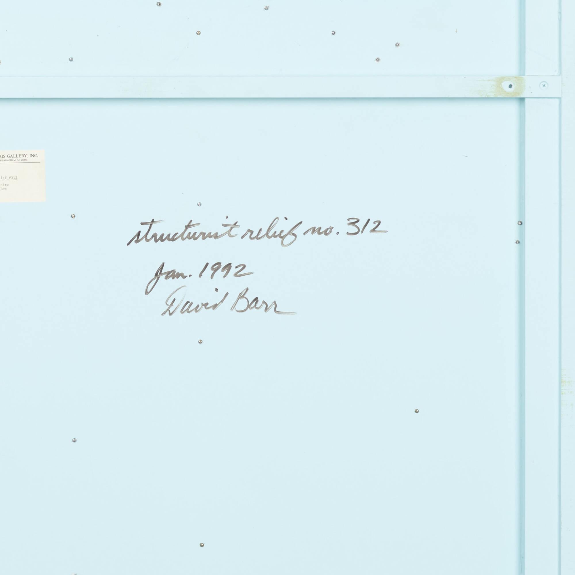 141: David Barr / Structurist Relief No. 312 (4 of 4)