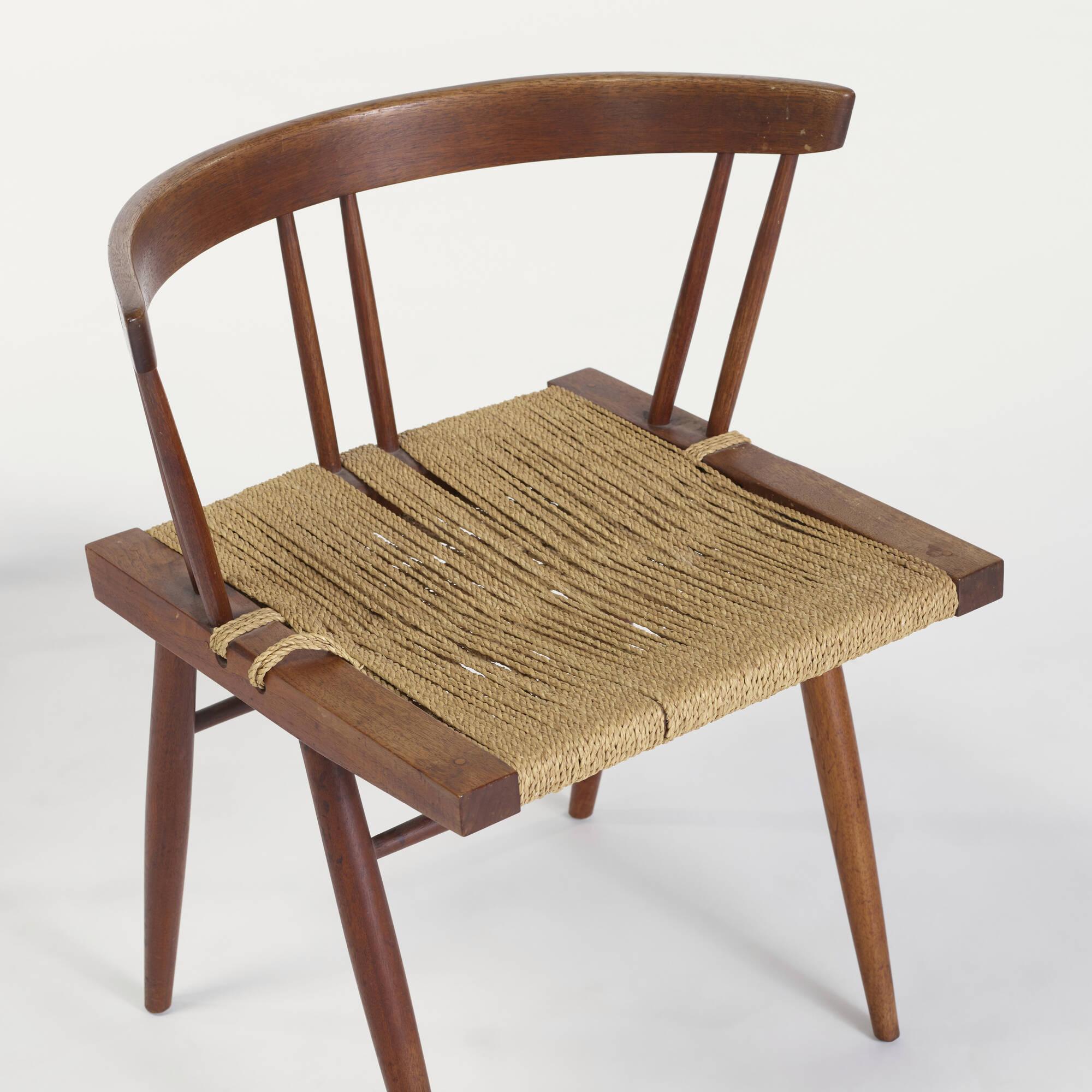 142 George Nakashima Grass Seated chairs pair Design 24