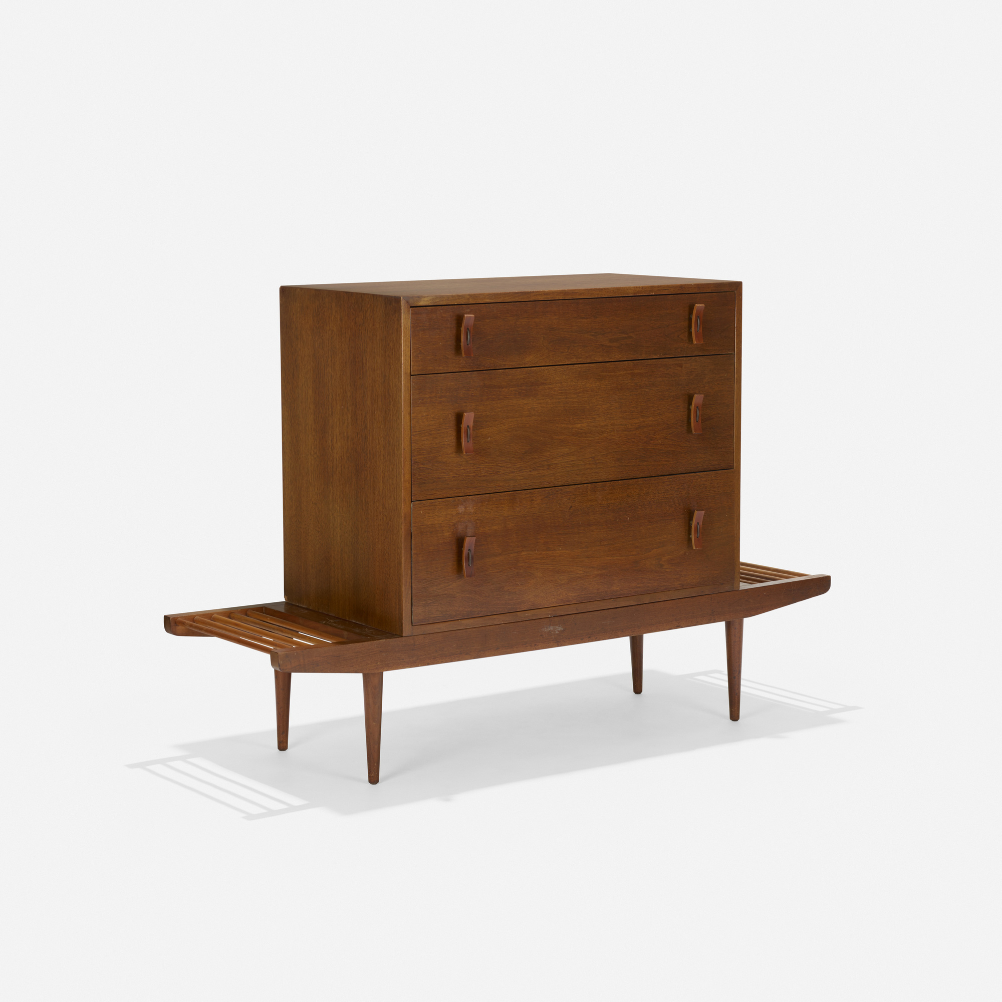 143: Milo Baughman and Stanley Young / bench with cabinet (1 of 3)