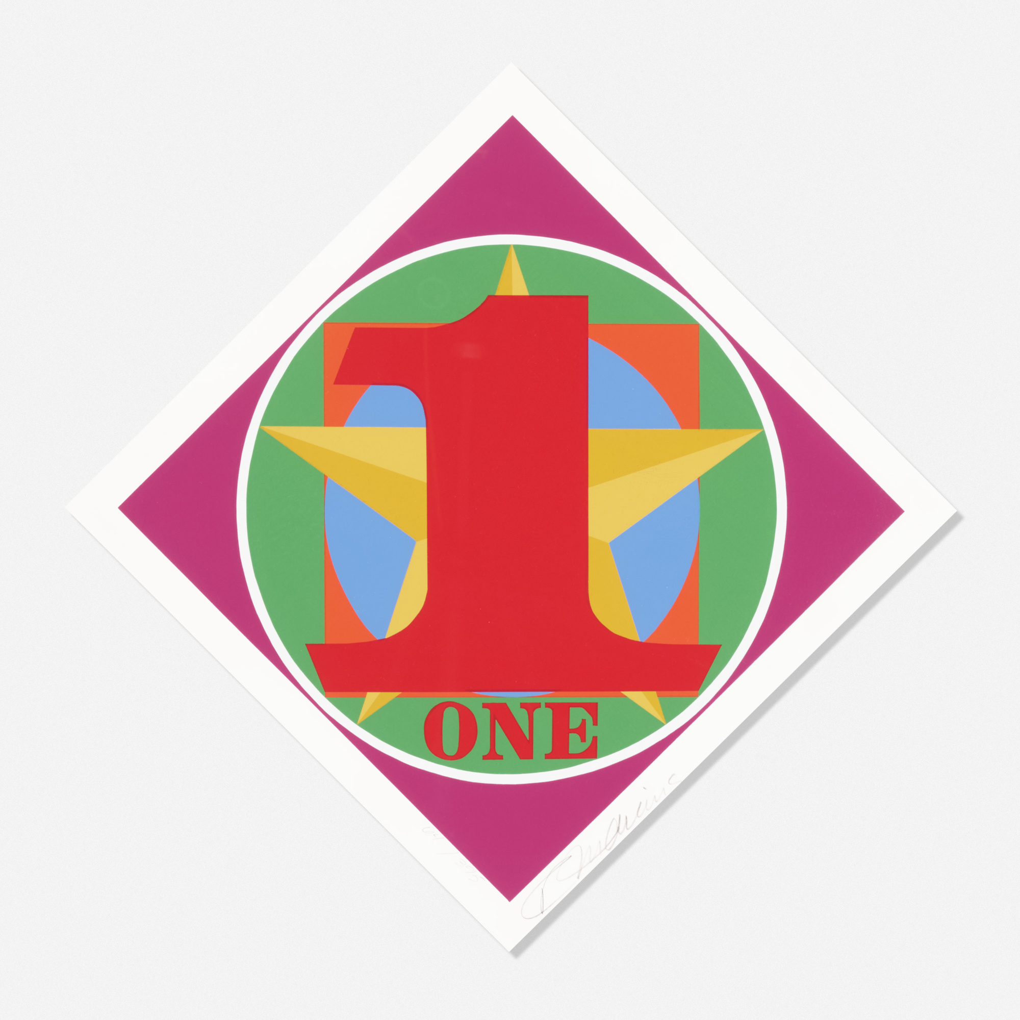 143: Robert Indiana / One (from the American Dream portfolio) (1 of 1)