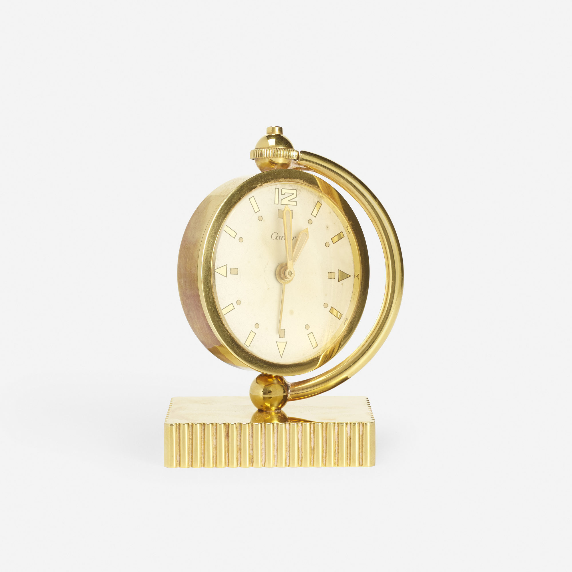 143: Cartier / A gold table clock (1 of 2)