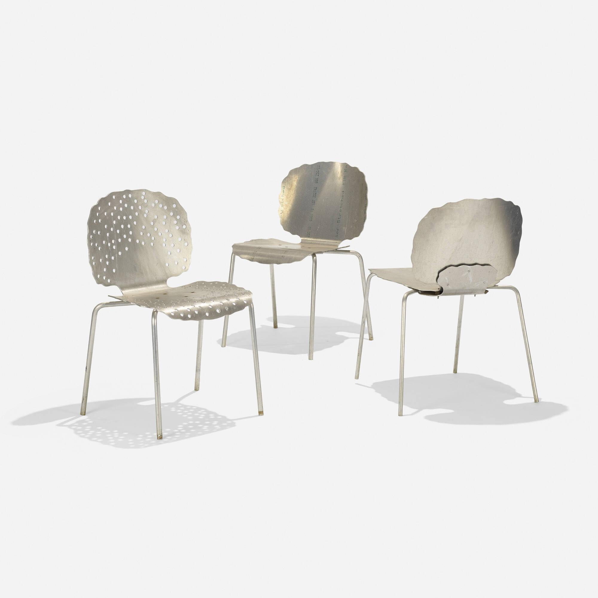 143 Richard Schultz Prototype Topiary Stacking chairs three