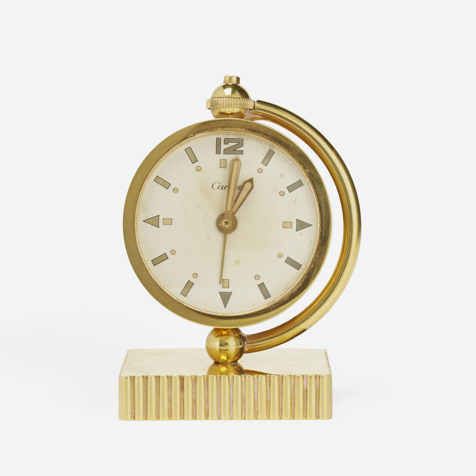 143: Cartier / A gold table clock (2 of 2)