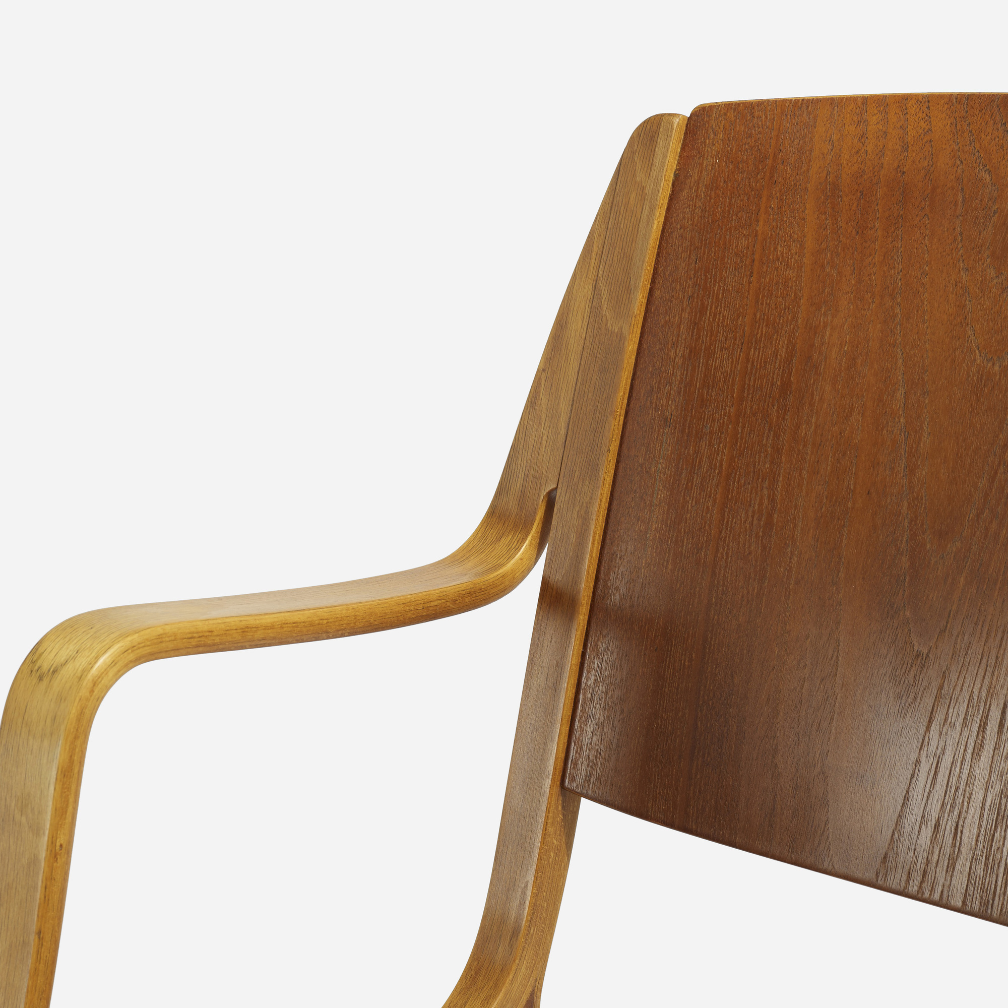 143: Peter Hvidt and Orla Mølgaard-Nielsen / Ax chairs, pair (2 of 3)