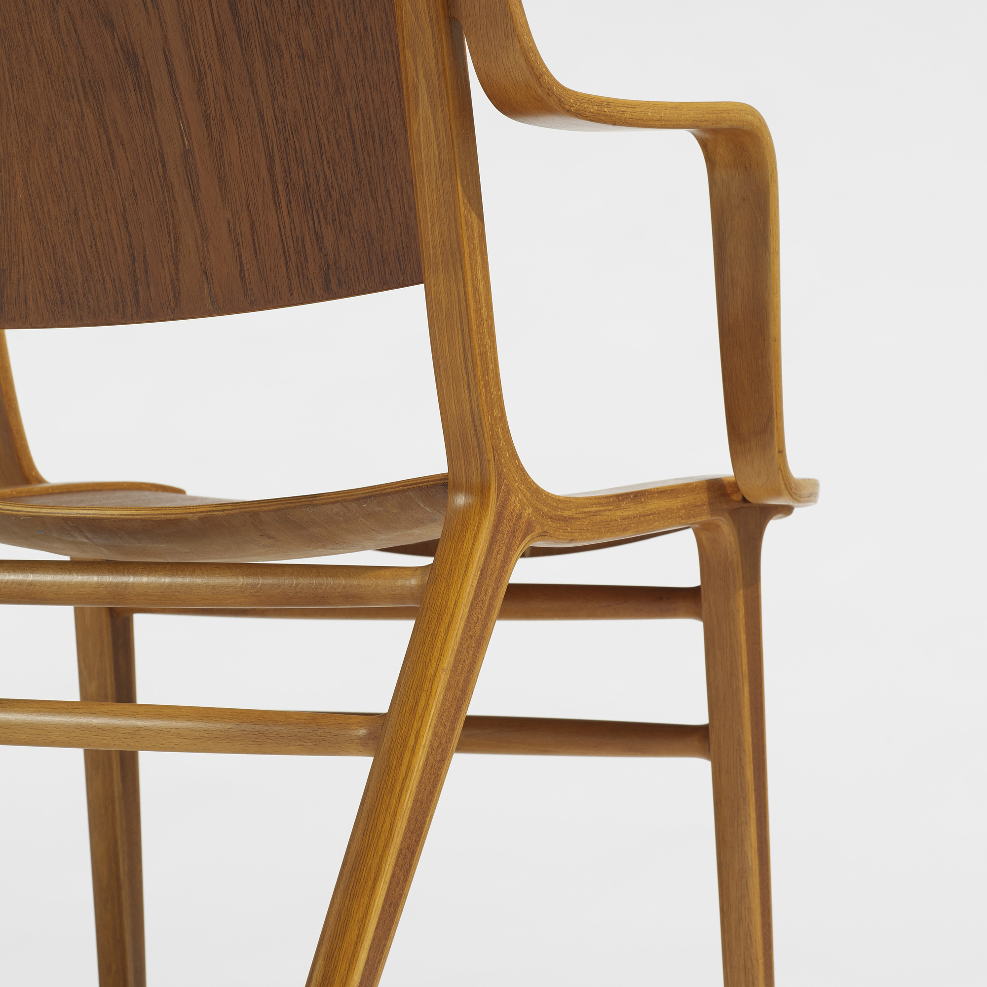 143: Peter Hvidt and Orla Mølgaard-Nielsen / Ax chairs, pair (3 of 3)