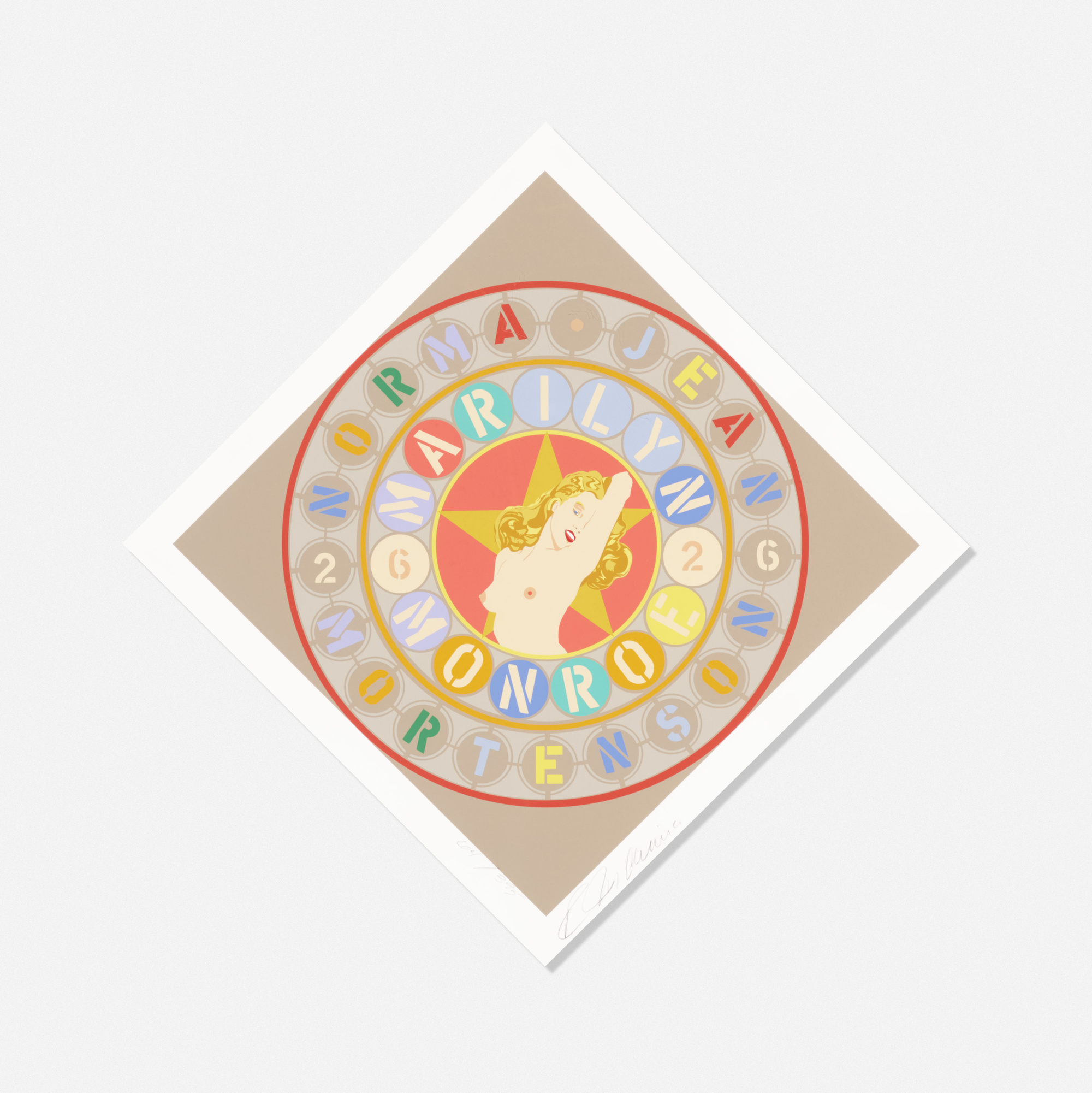 144: Robert Indiana / Marilyn (from the American Dream portfolio) (1 of 1)