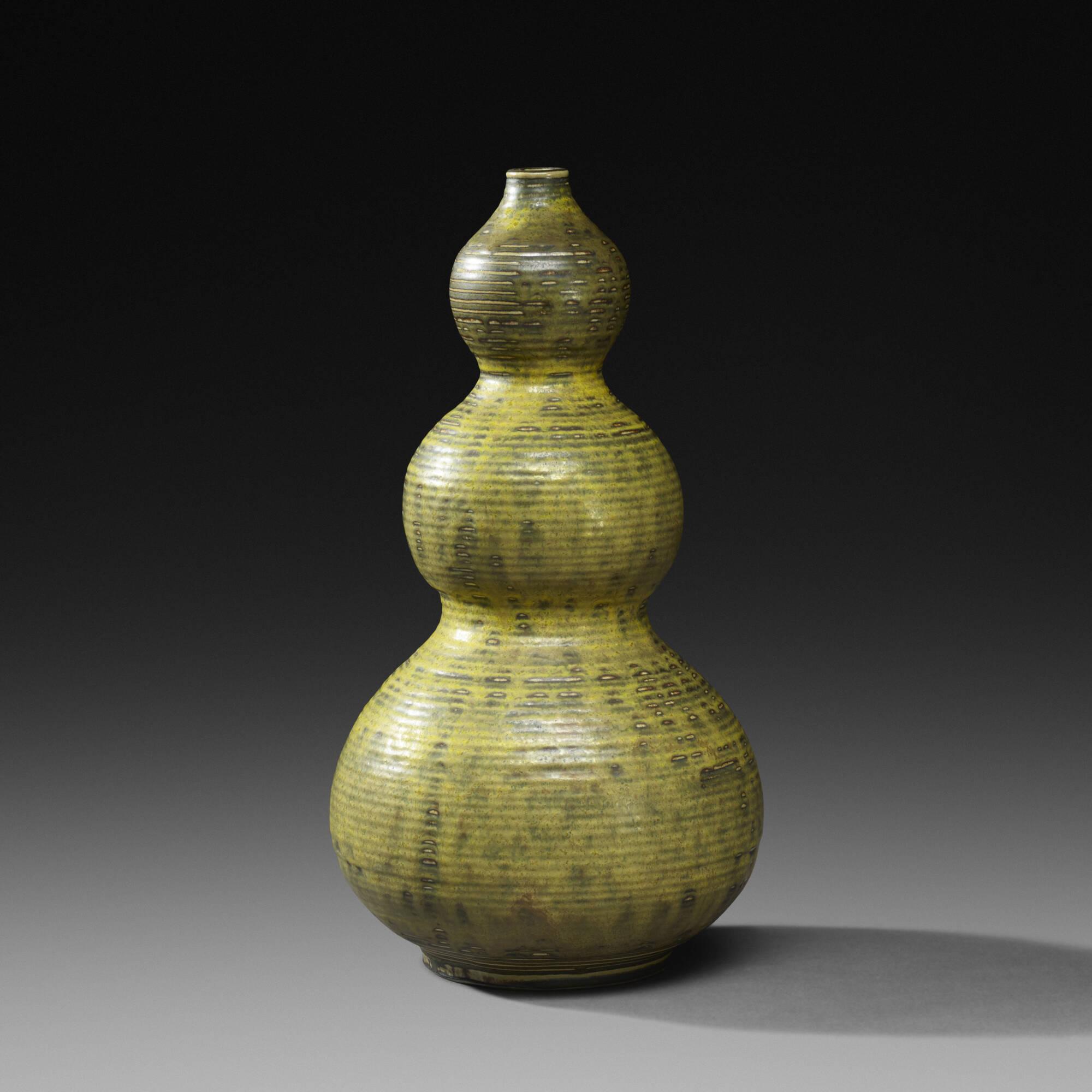 144: Axel Salto / Triple Gourd vase (1 of 2)