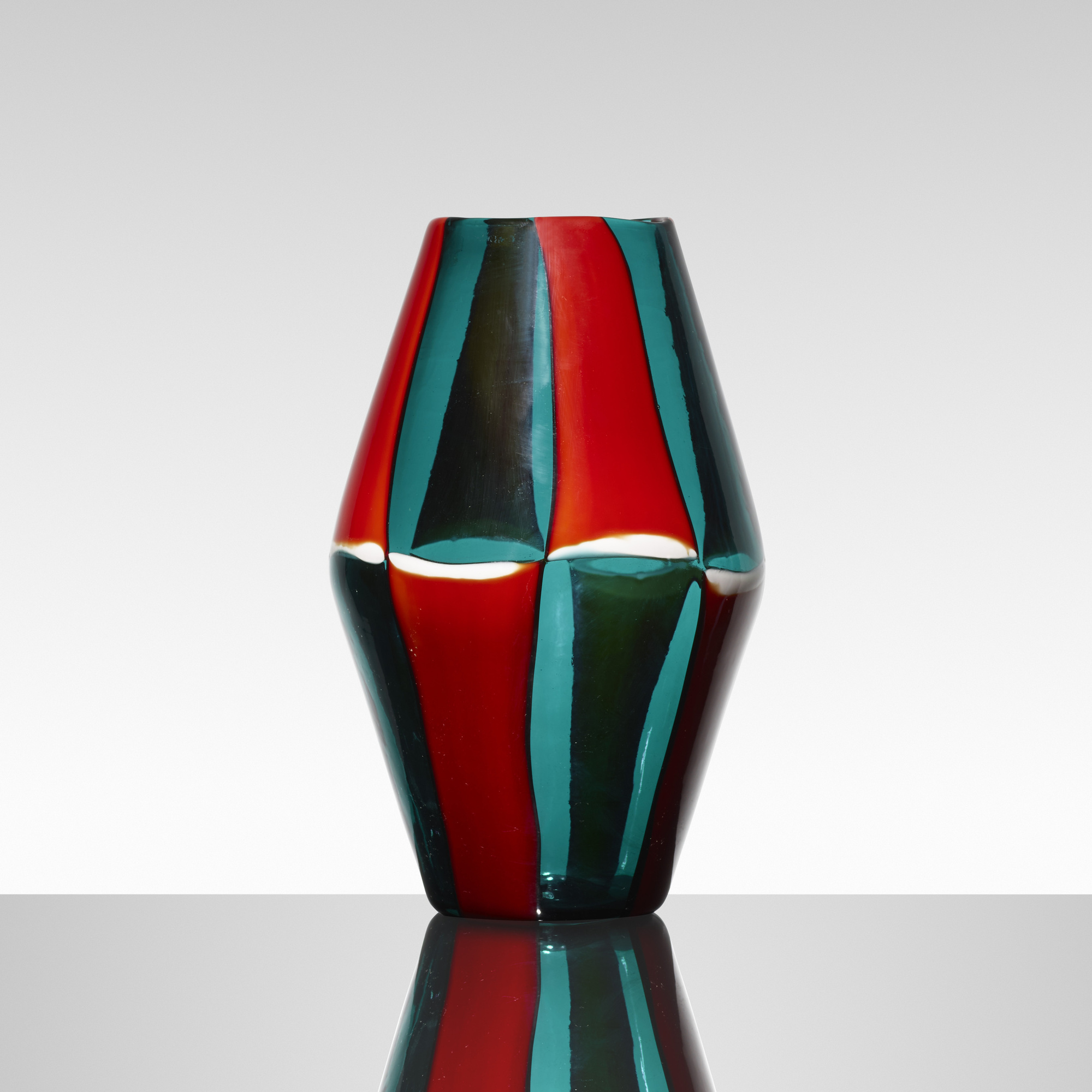 144: Fulvio Bianconi / Bi-Pezzato vase, model 4318 (1 of 5)