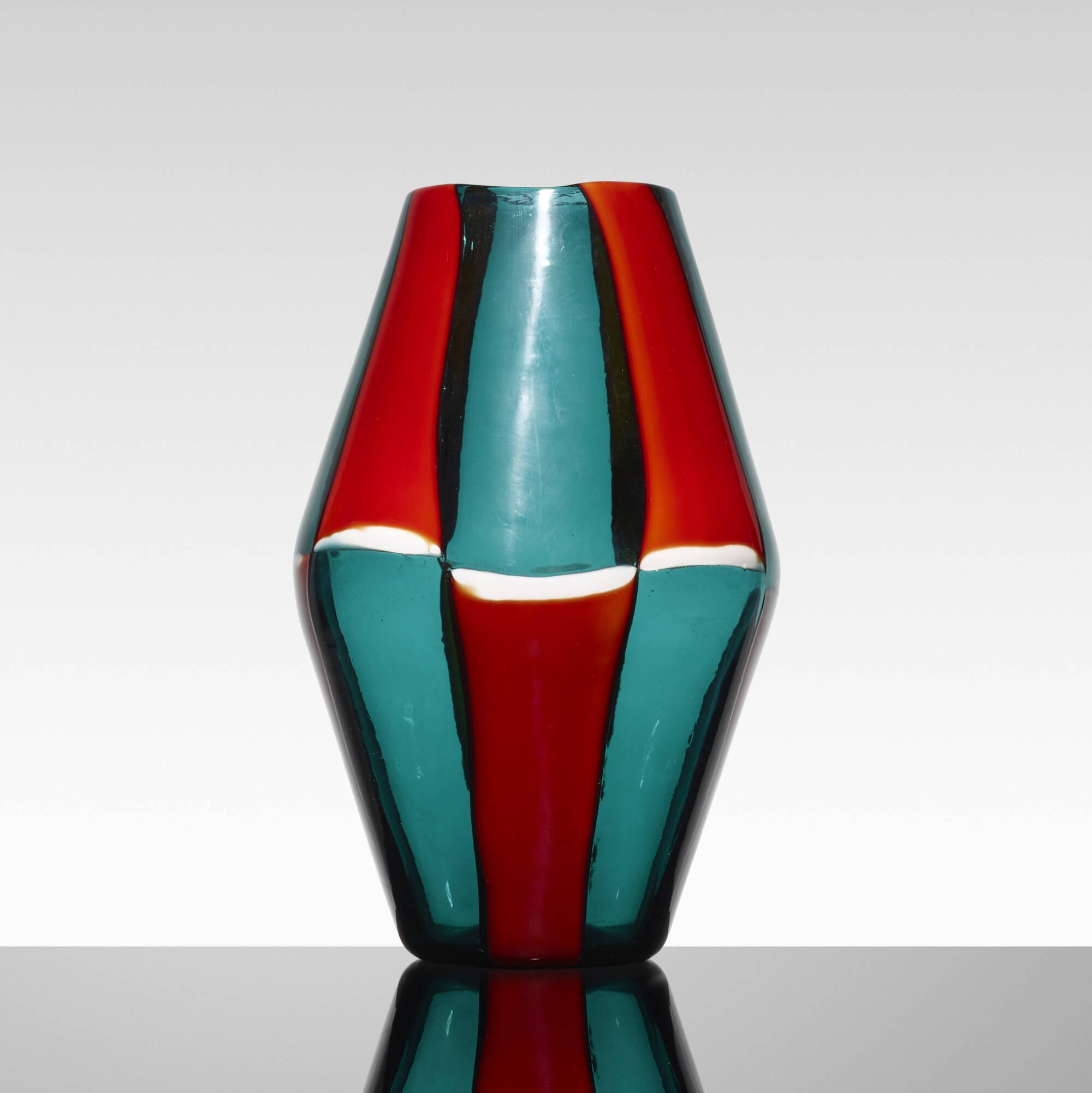 144: Fulvio Bianconi / Bi-Pezzato vase, model 4318 (2 of 5)