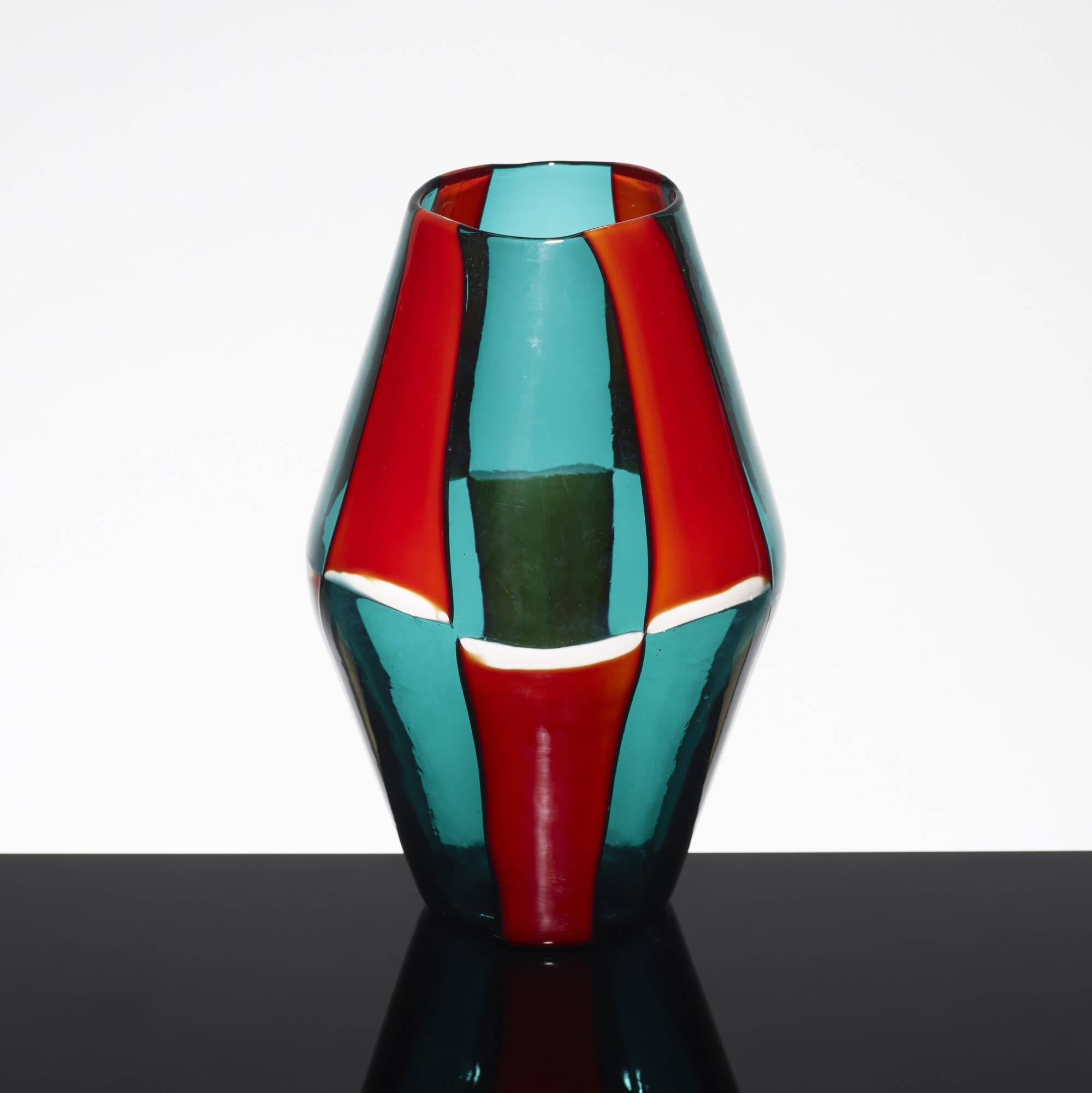 144: Fulvio Bianconi / Bi-Pezzato vase, model 4318 (3 of 5)