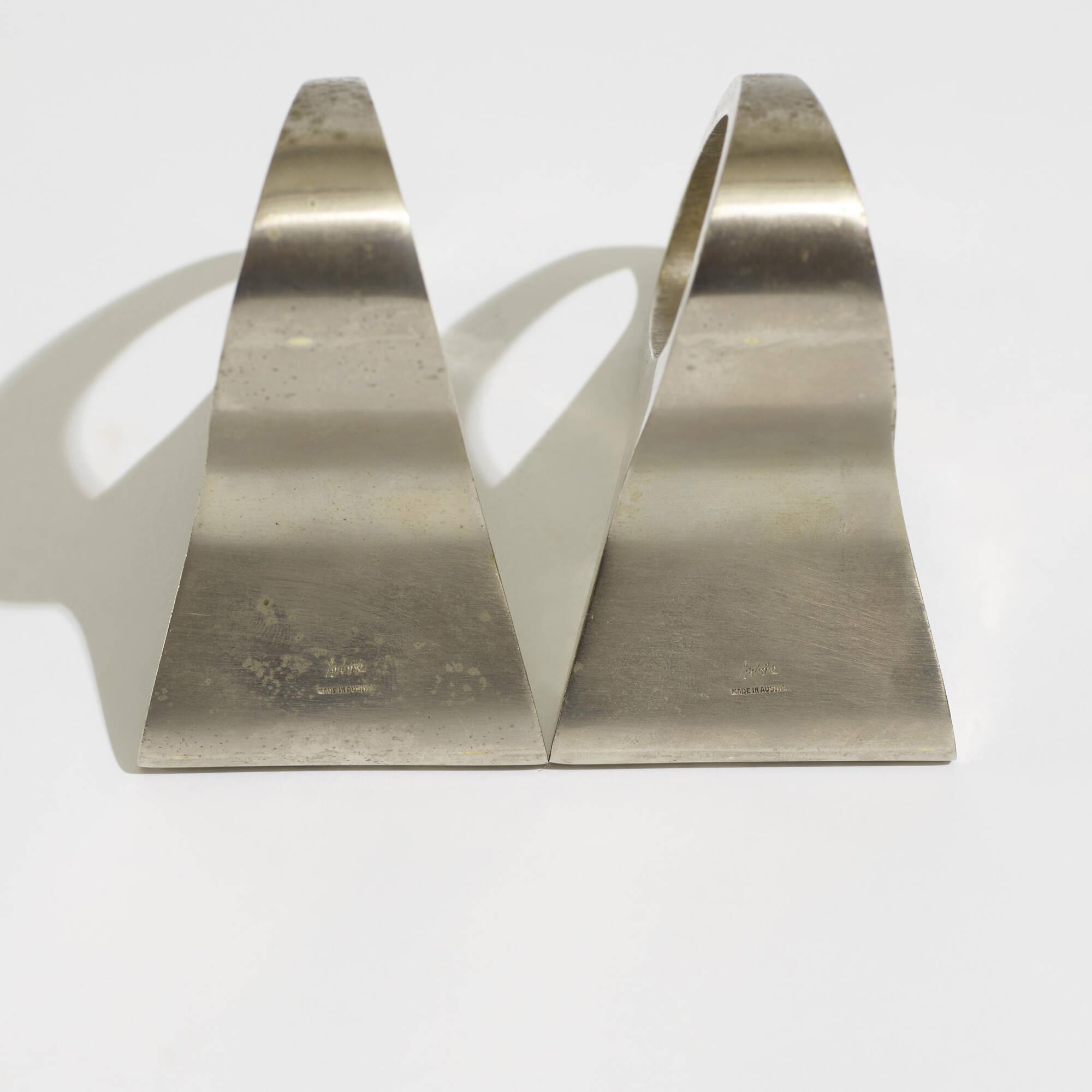 144: Carl Auböck II / custom bookends, pair (4 of 4)