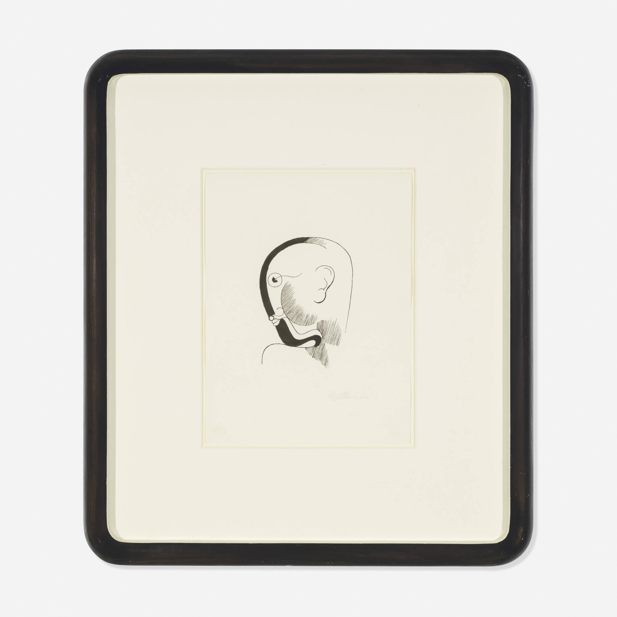 145: Oskar Schlemmer / Head in Profile (1 of 2)