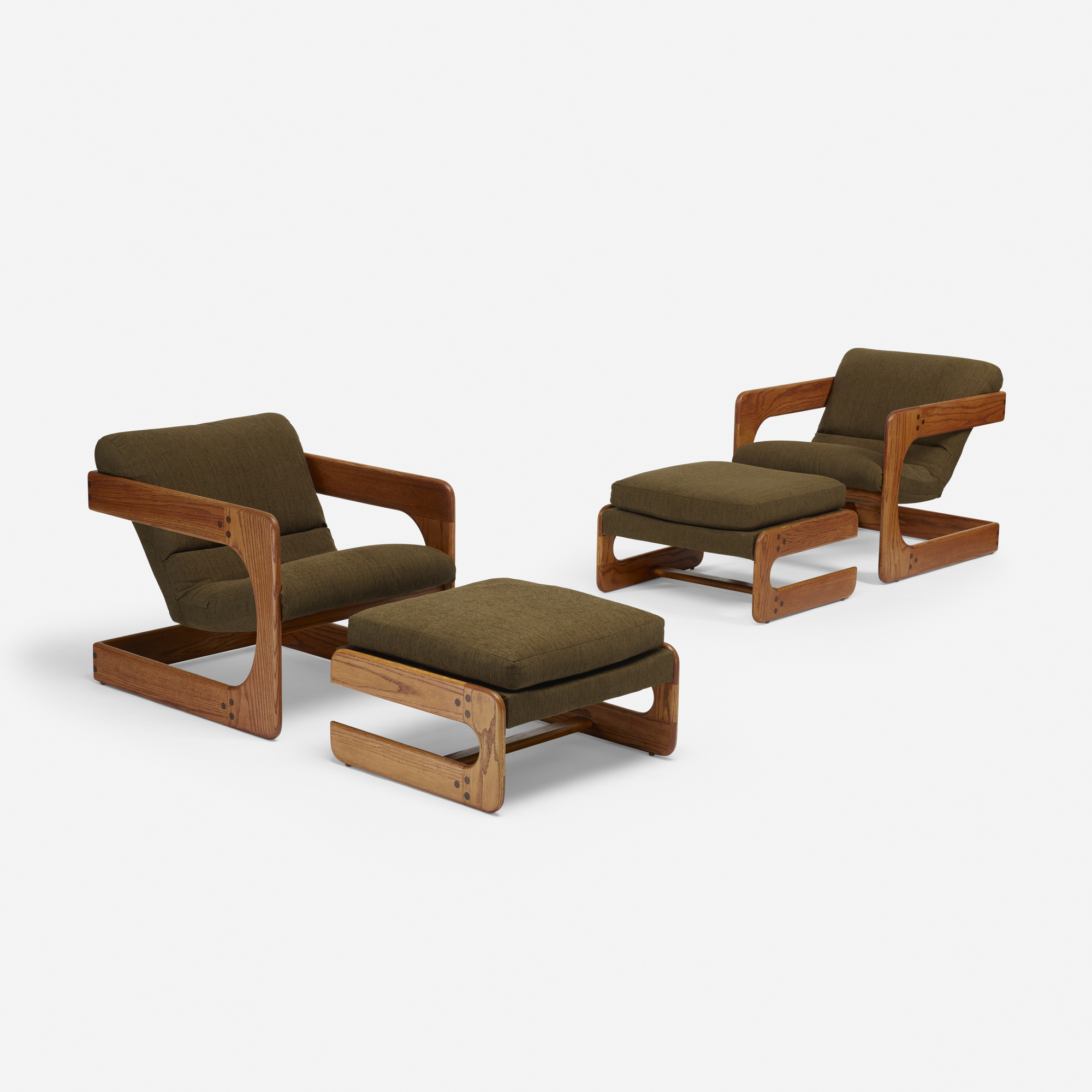145 Lou Hodges lounge chairs with ottomans pair Design 24