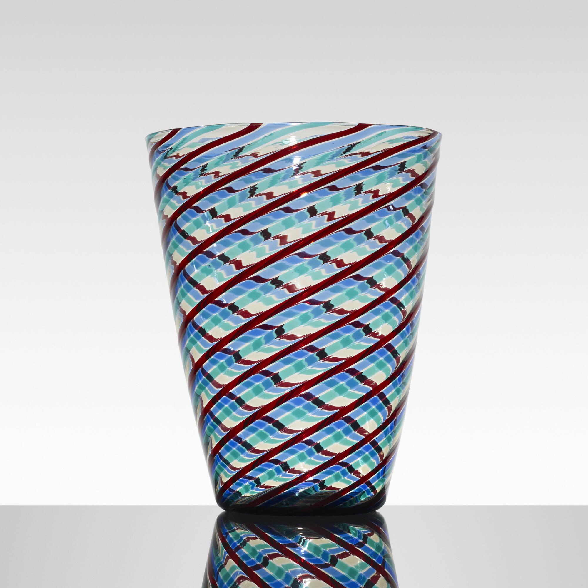 145: Fulvio Bianconi / a Fasce Ritorte vase (1 of 2)