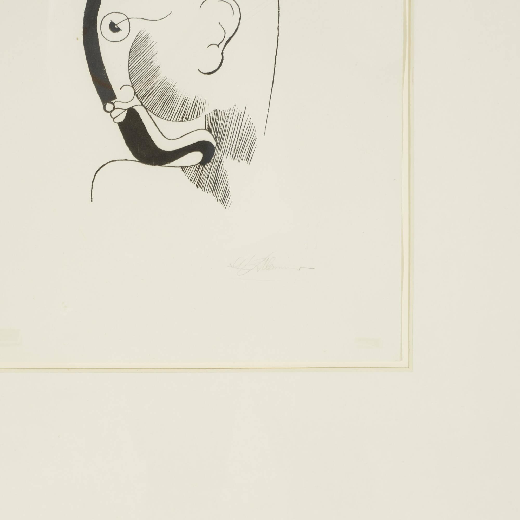 145: Oskar Schlemmer / Head in Profile (2 of 2)