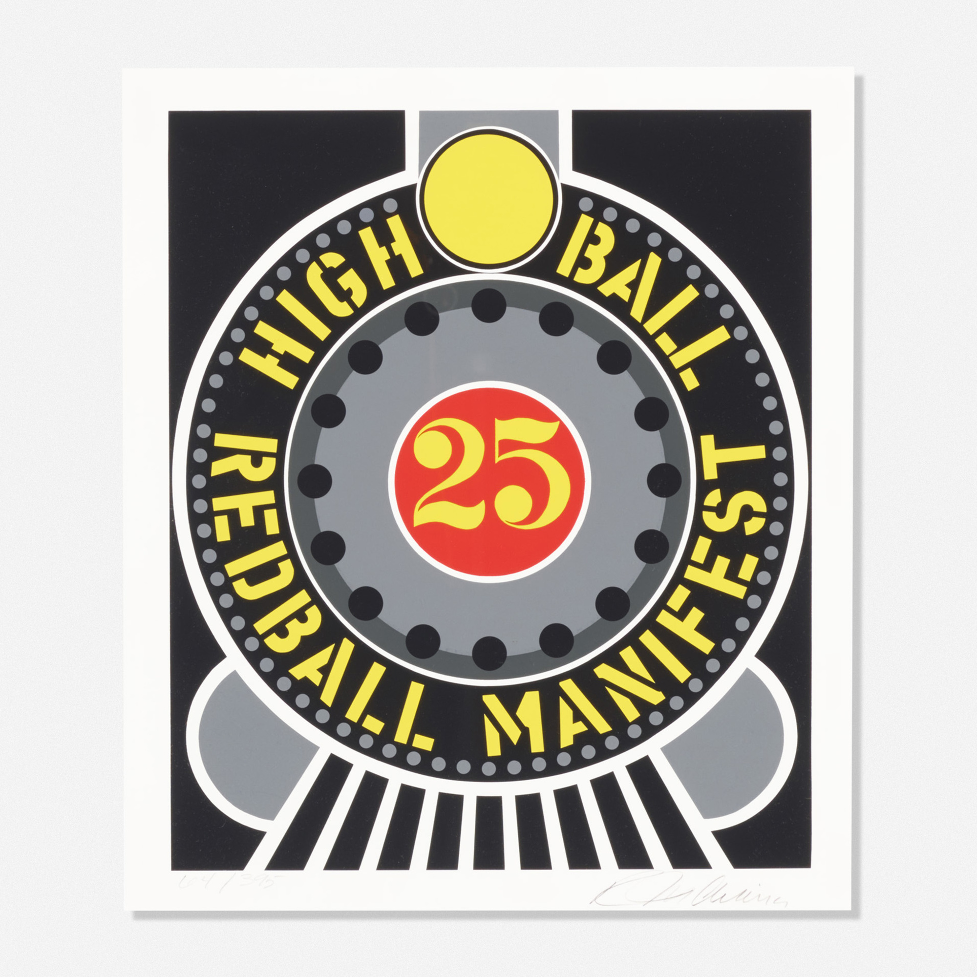 147: Robert Indiana / High Ball Redball Manifest (from the American Dream portfolio) (1 of 1)