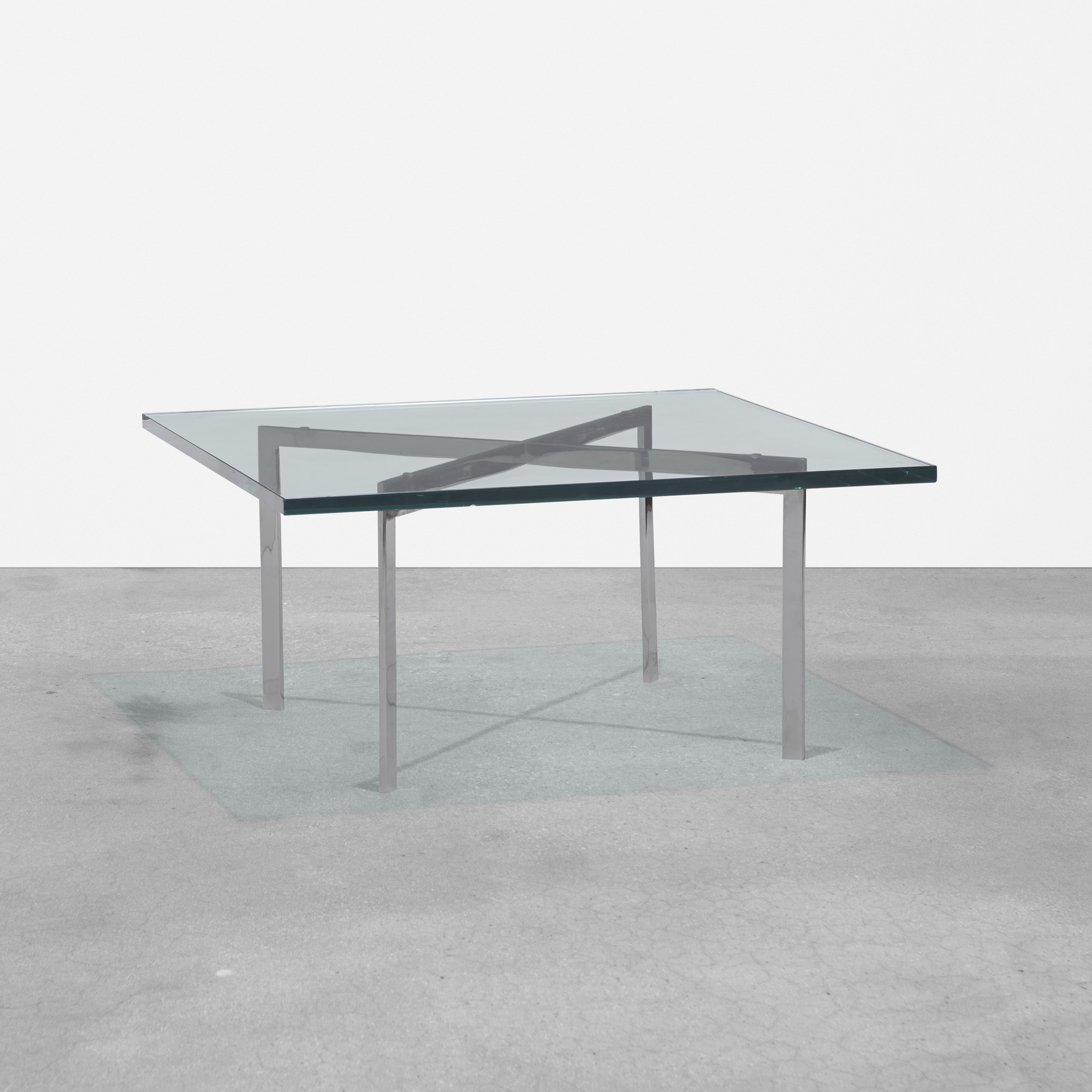 147: Ludwig Mies van der Rohe / custom Barcelona coffee table from 860 Lake Shore Drive, Chicago (1 of 3)