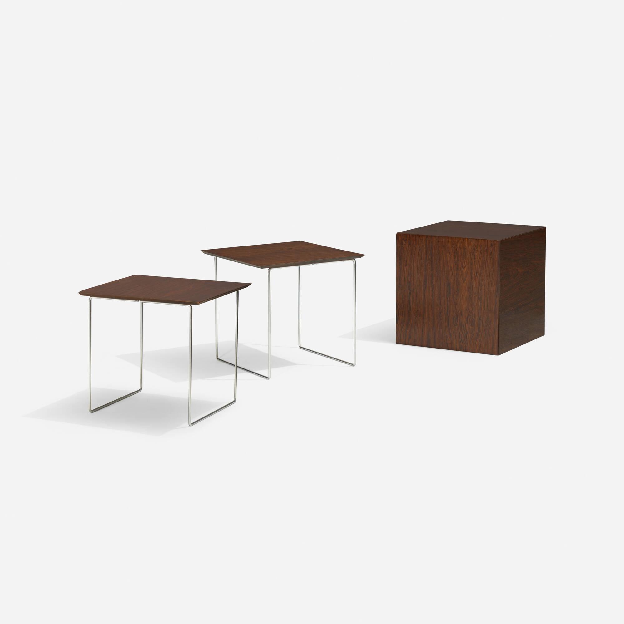 147: Poul Nørreklit / cube nesting tables, set of six (1 of 5)