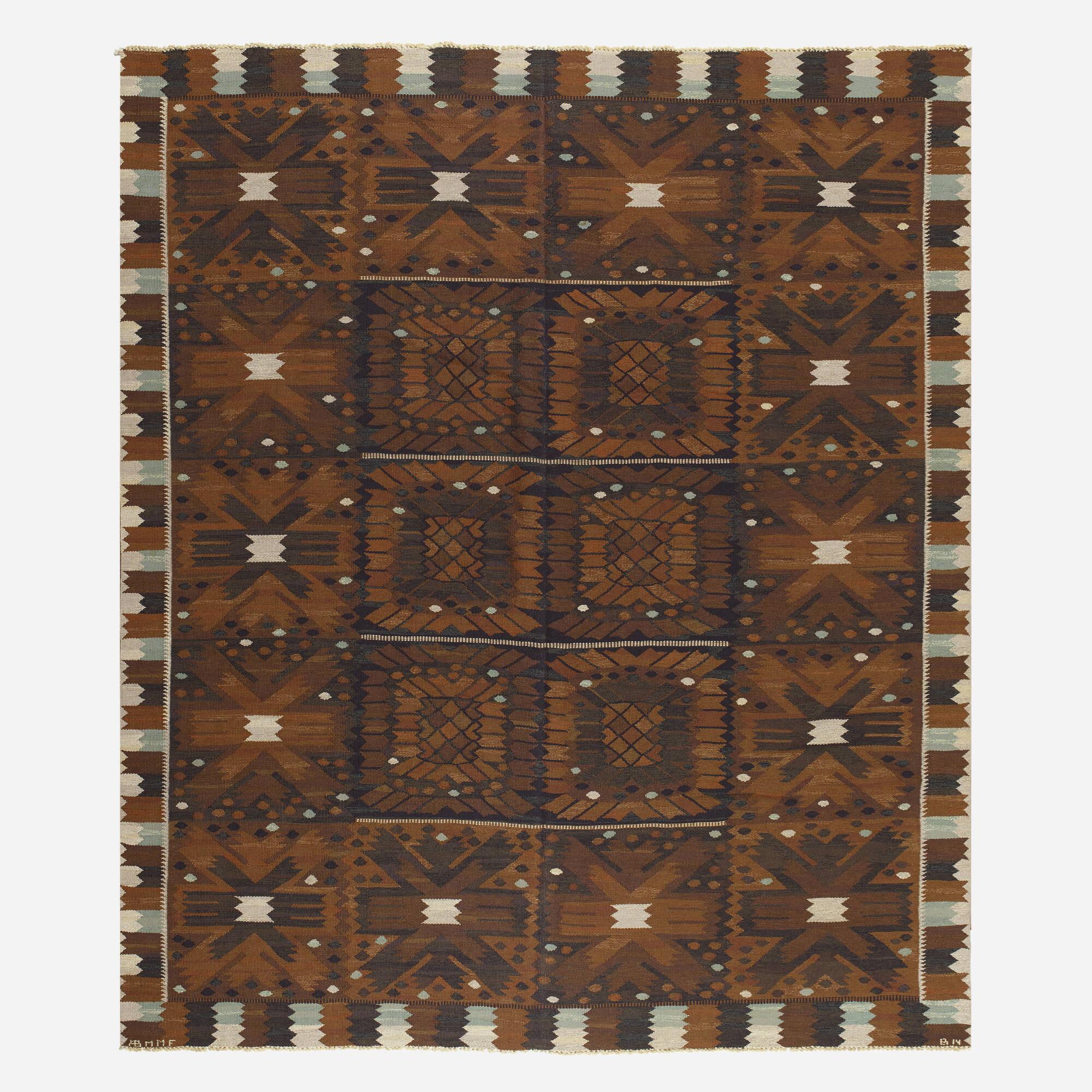 147: Barbro Nilsson / Carnation tapestry weave carpet (1 of 2)