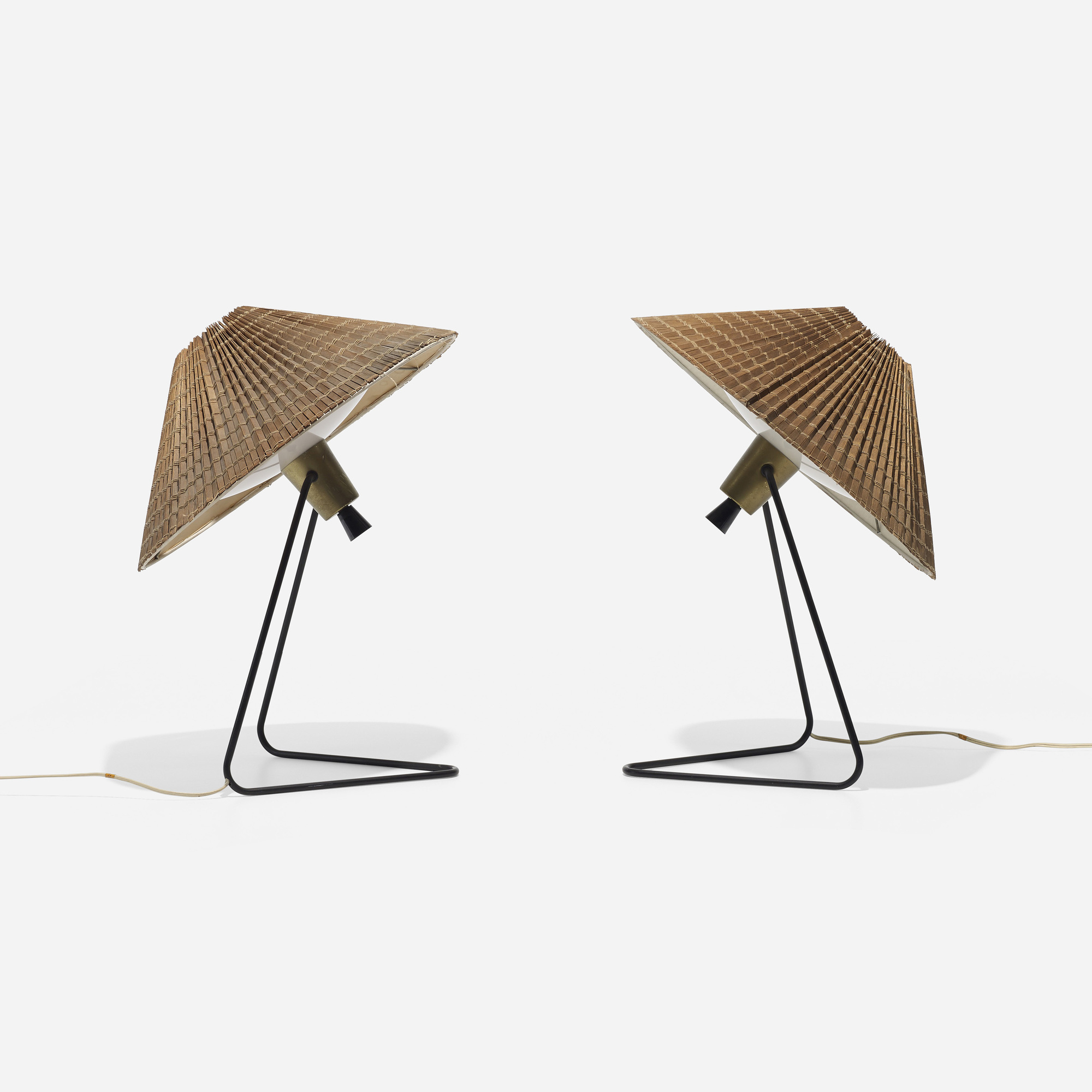 auctions american thurston wright auction september gerald lamps pair lamp of table design