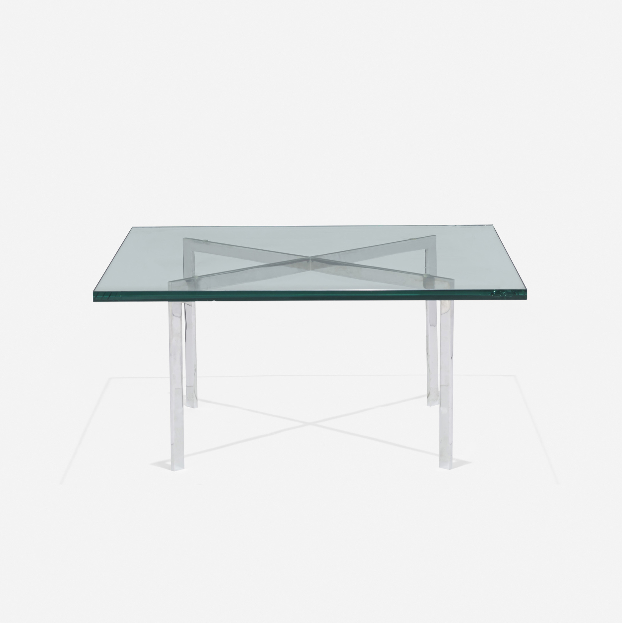 147: Ludwig Mies van der Rohe / custom Barcelona coffee table from 860 Lake Shore Drive, Chicago (2 of 3)