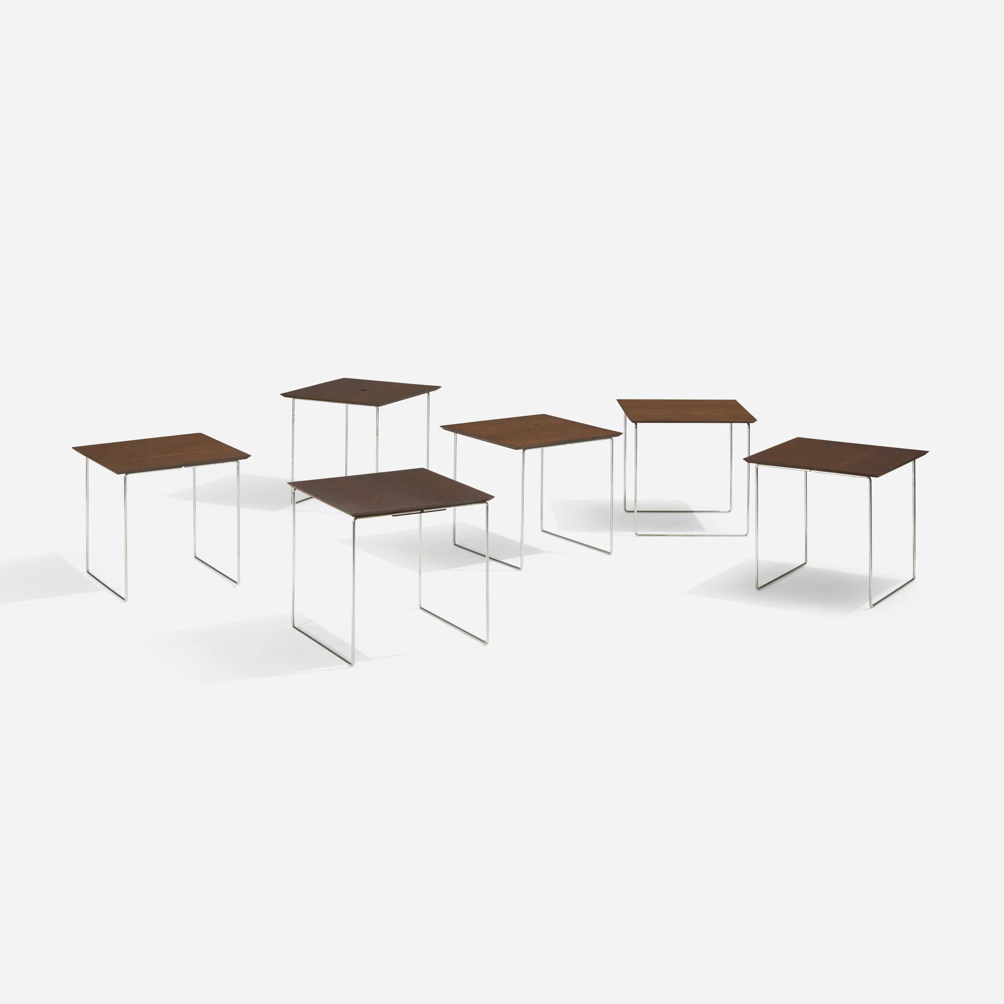 147: Poul Nørreklit / cube nesting tables, set of six (3 of 5)