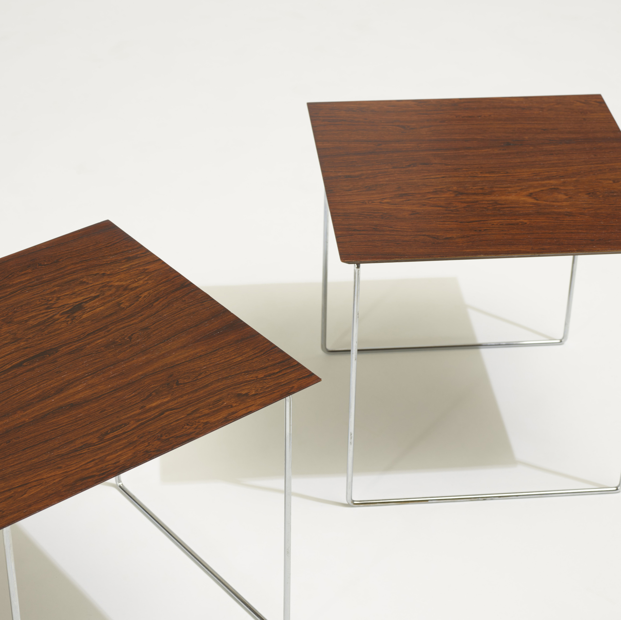 147: Poul Nørreklit / cube nesting tables, set of six (4 of 5)