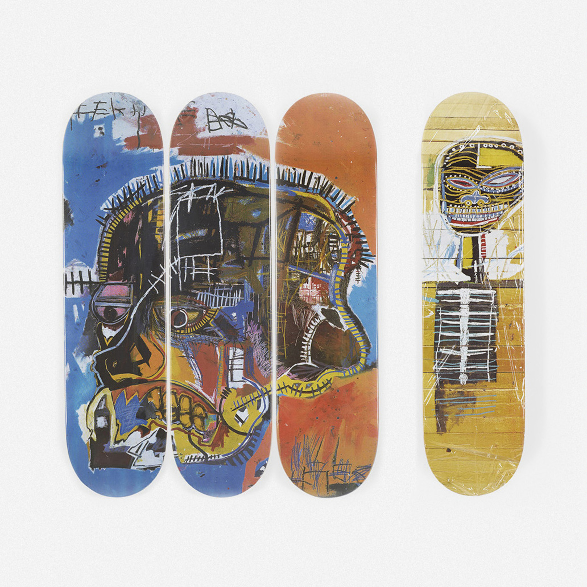 148: Jean-Michel Basquiat / skateboard decks, set of four (1 of 2)