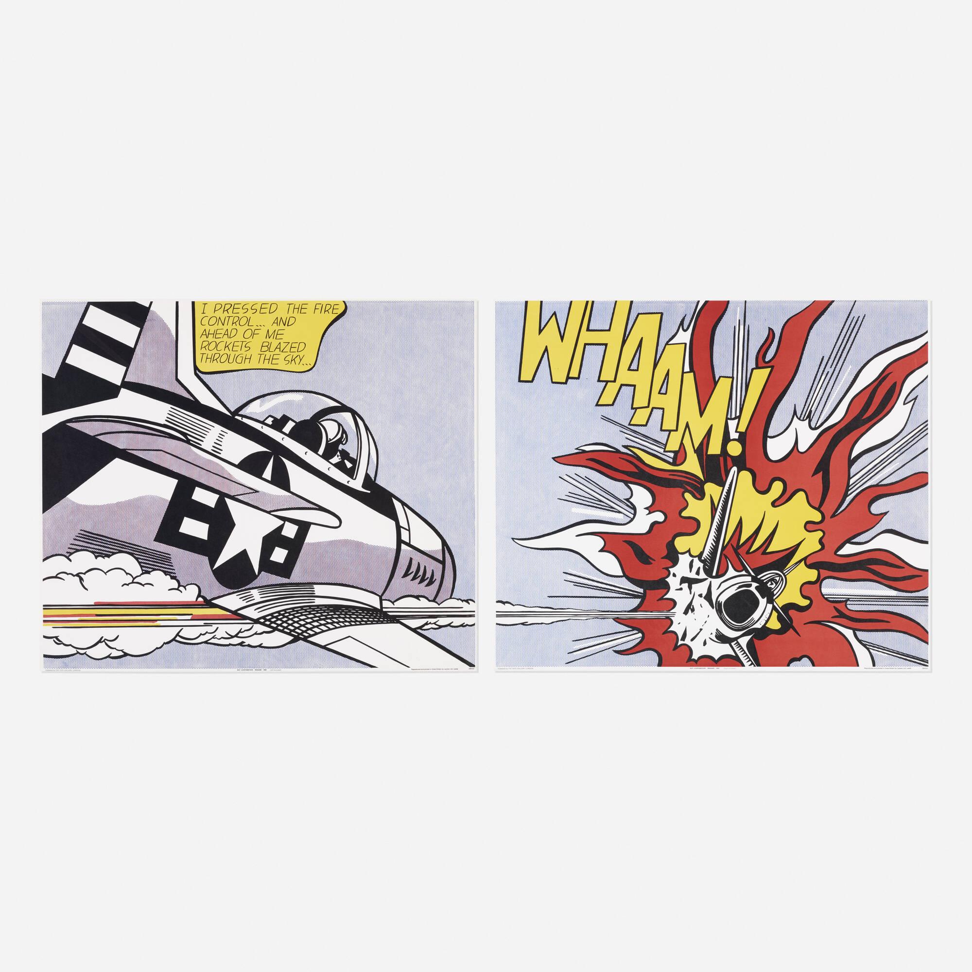 148: Roy Lichtenstein / WHAAM! poster (diptych) (1 of 1)