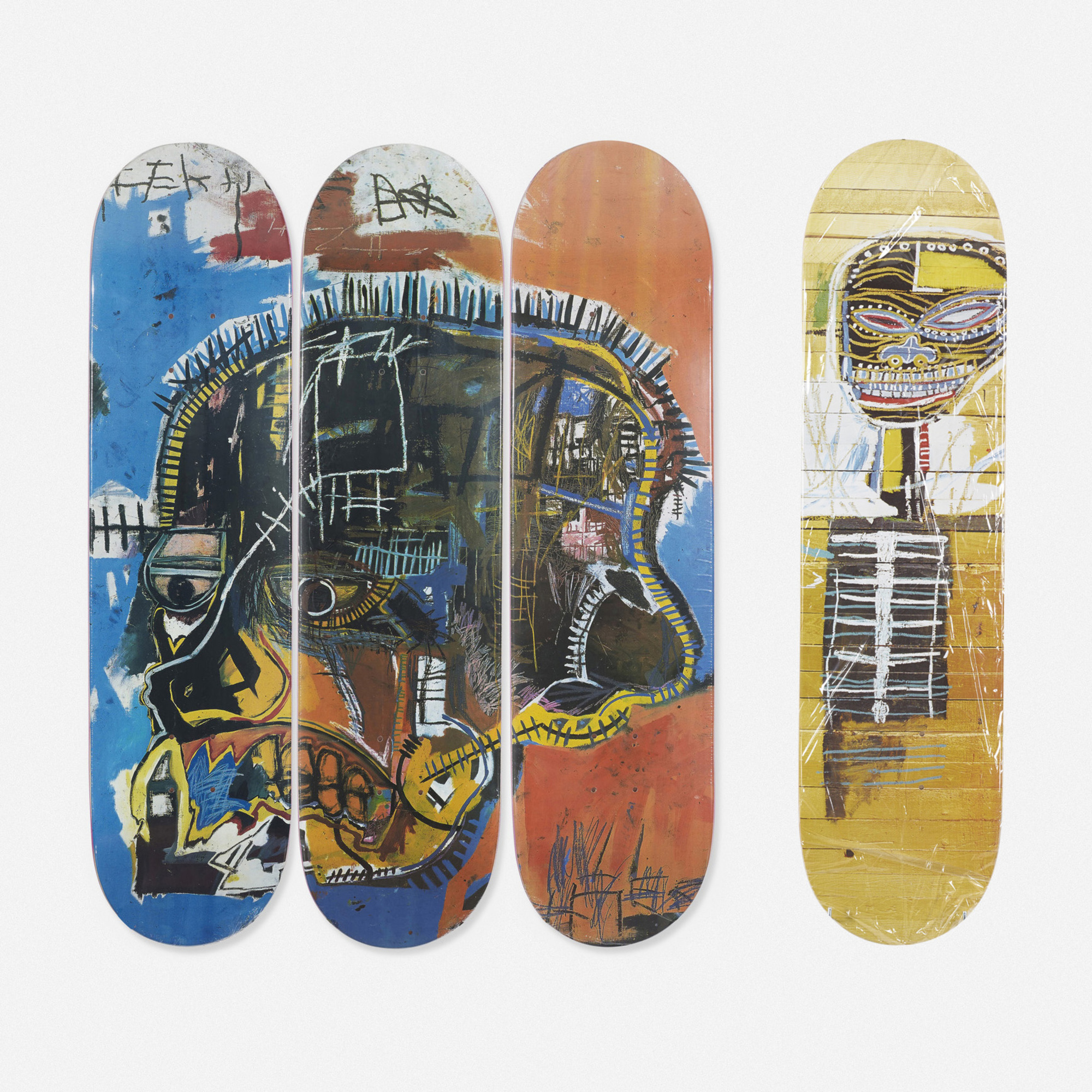 148: Jean-Michel Basquiat / skateboard decks, set of four (2 of 2)