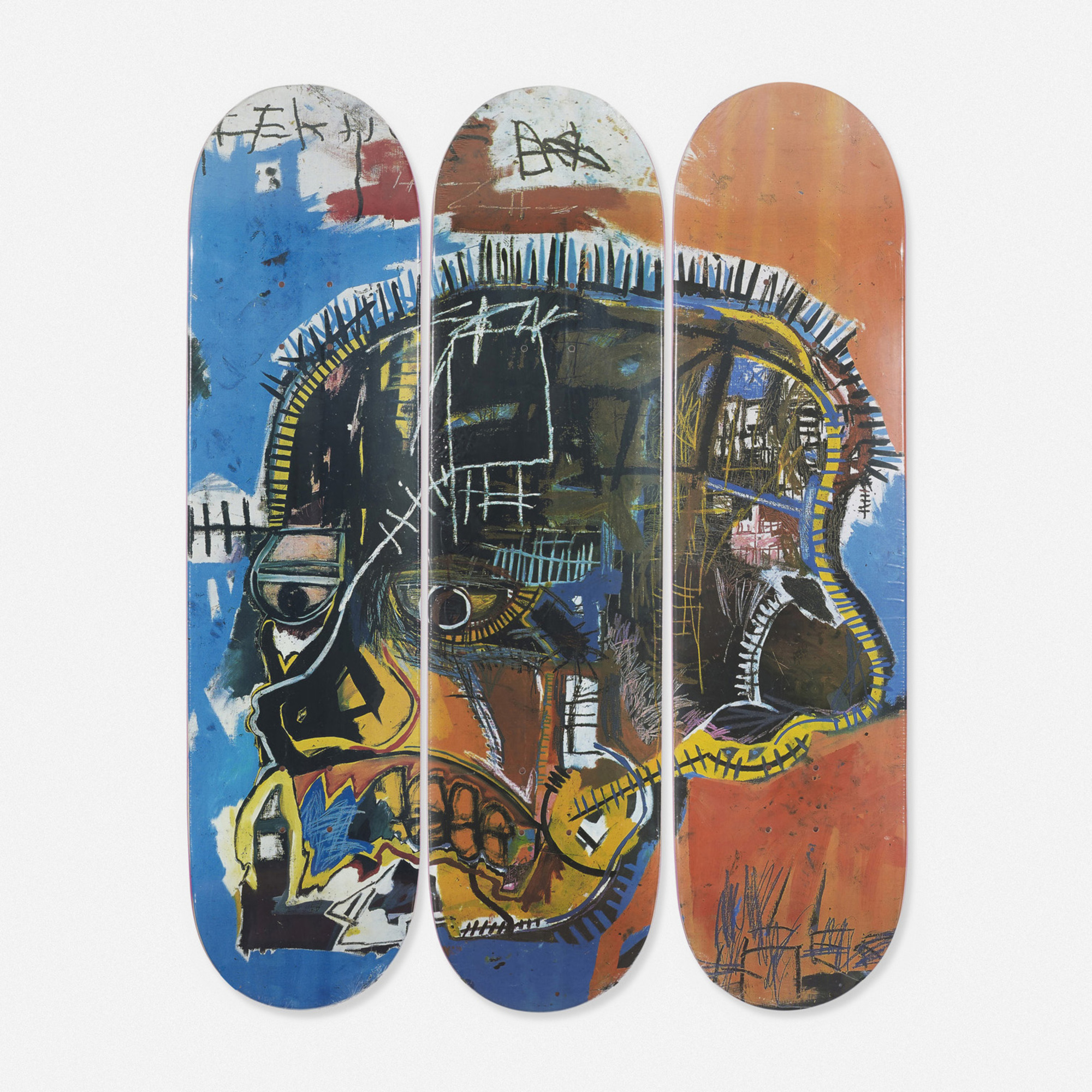 149: Jean-Michel Basquiat / skateboard decks, set of three (1 of 1)