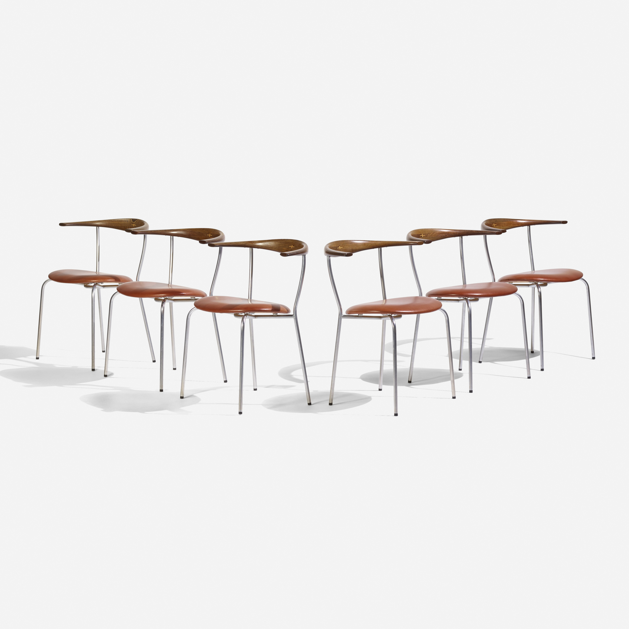 149: Hans J. Wegner / dining chairs model JH701, set of six (1 of 4)