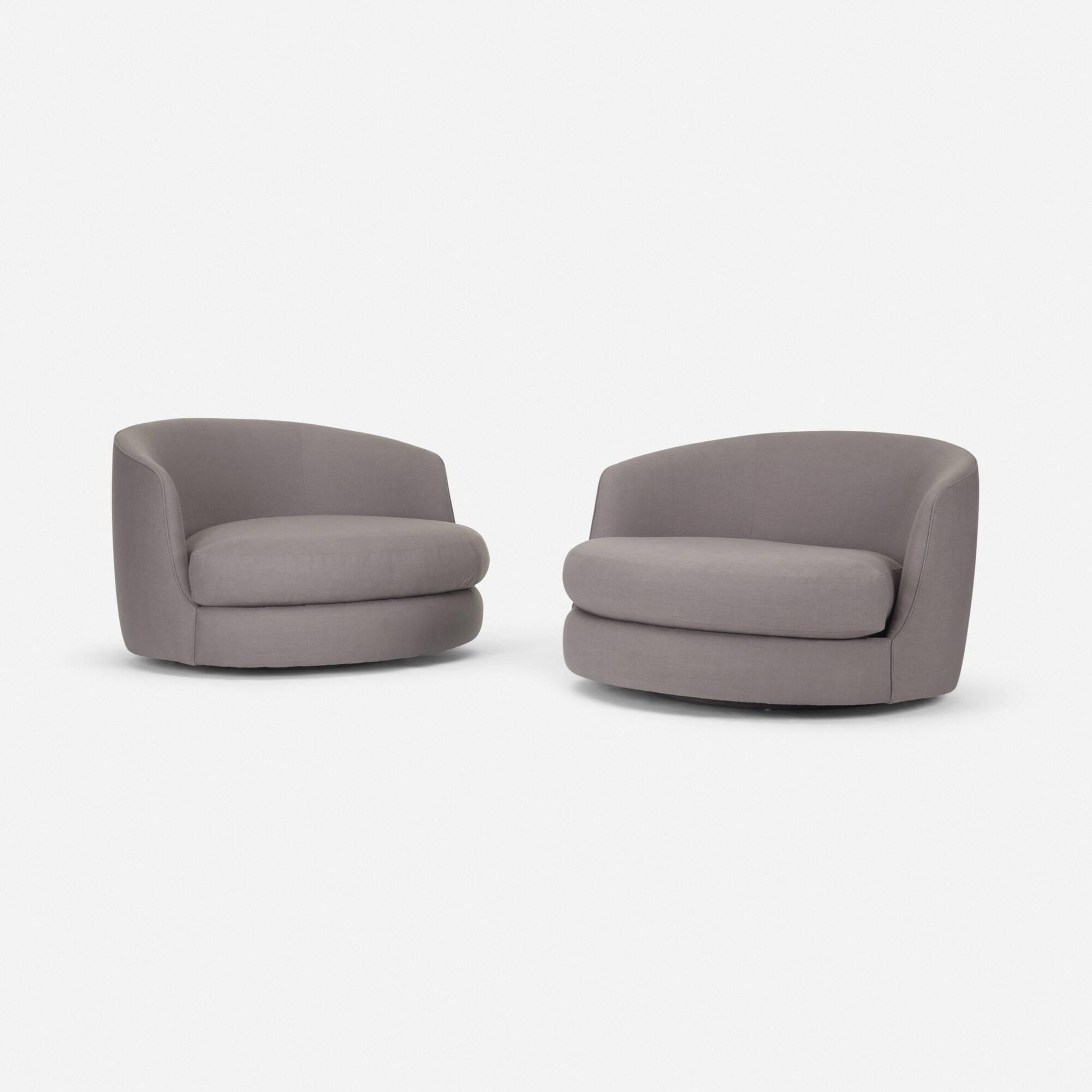 ... 149: Milo Baughman / Swivel Lounge Chairs, Pair (2 Of 2)