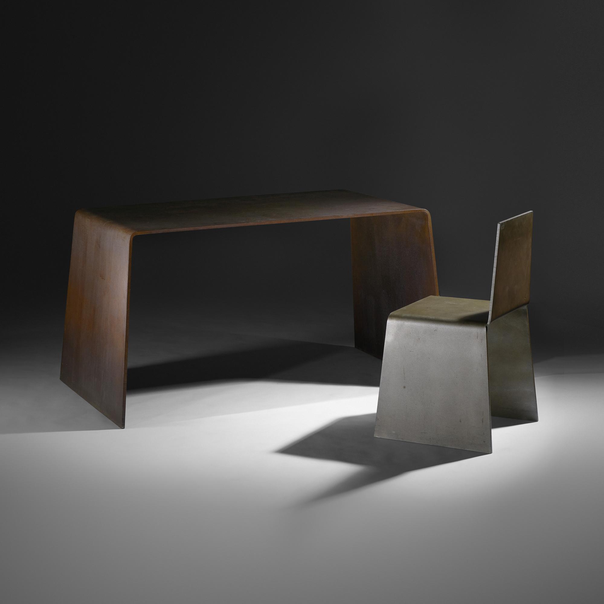 Nice ... 14: Scott Burton / Prototype Steel Furniture Table (2 Of 4)