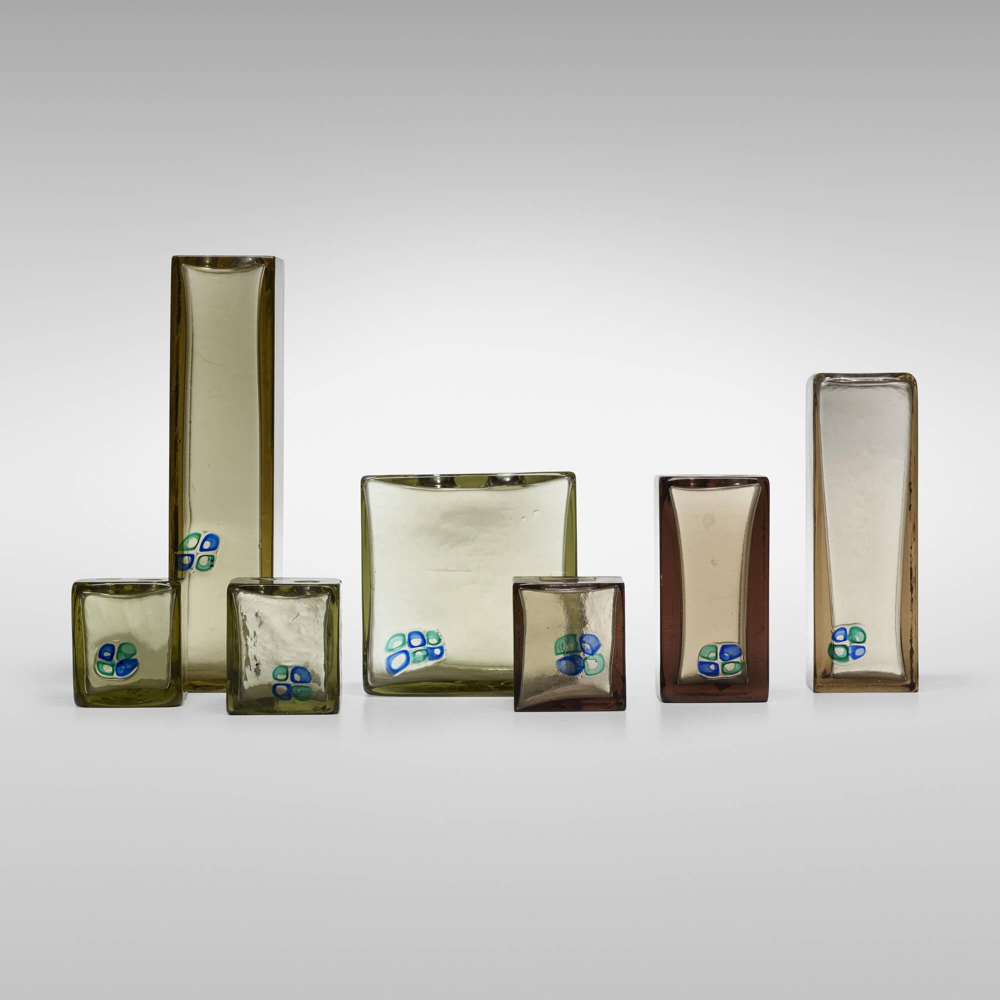 150: Fulvio Bianconi / collection of seven Sezione Quadrata vases (1 of 3)