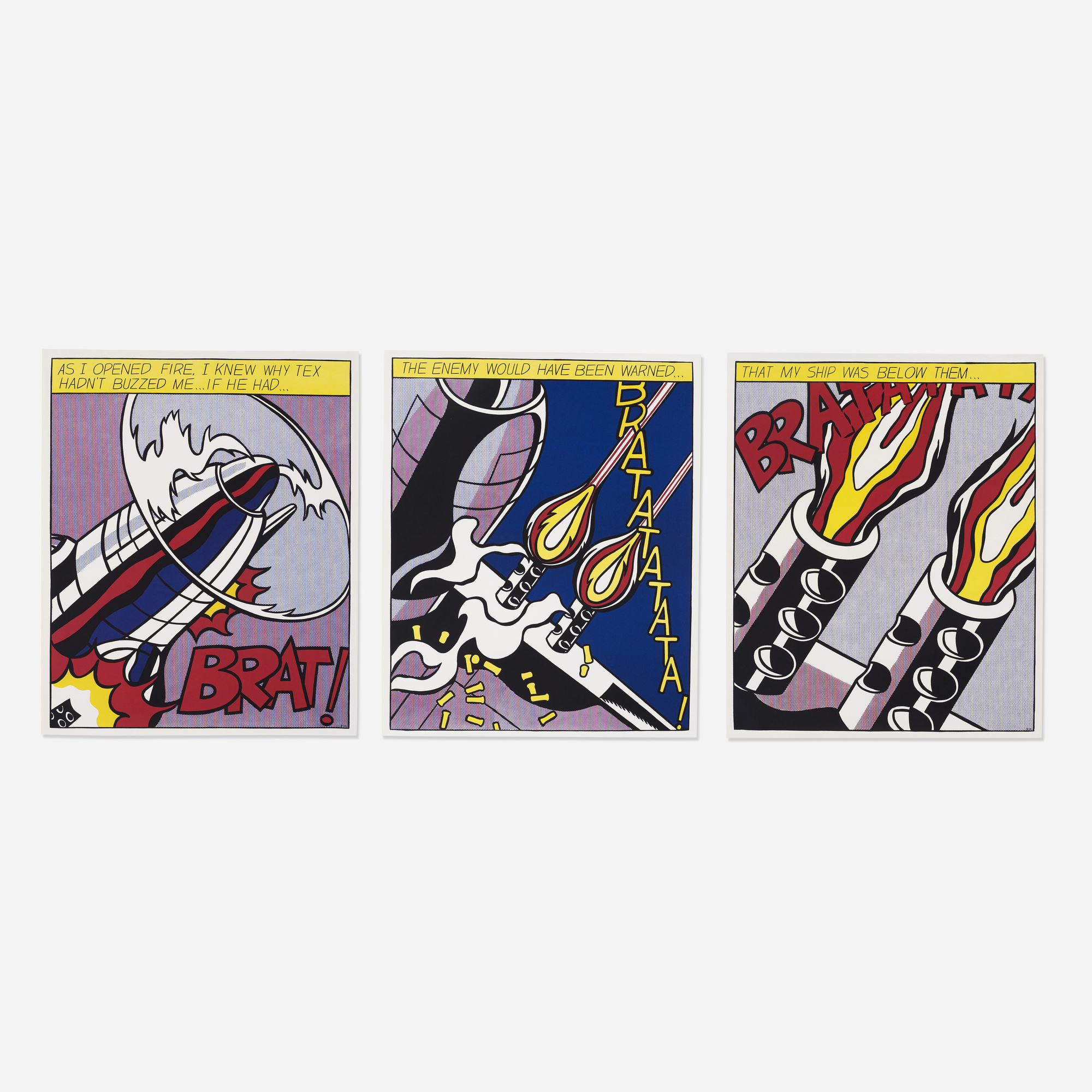 150: Roy Lichtenstein / As I Opened Fire poster (triptych) (1 of 1)