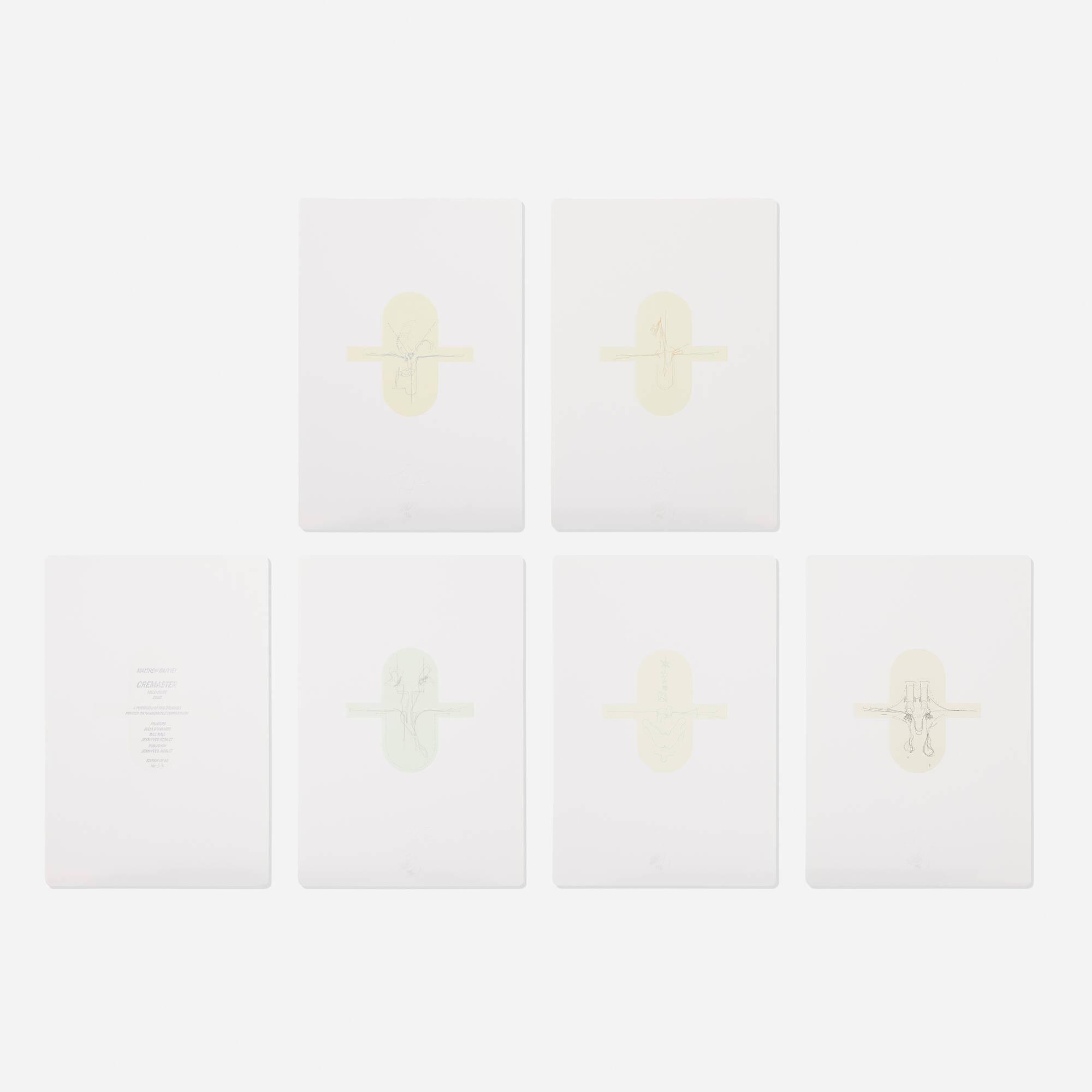 150: Matthew Barney / Cremaster: Field Suite (portfolio of five works) (1 of 3)