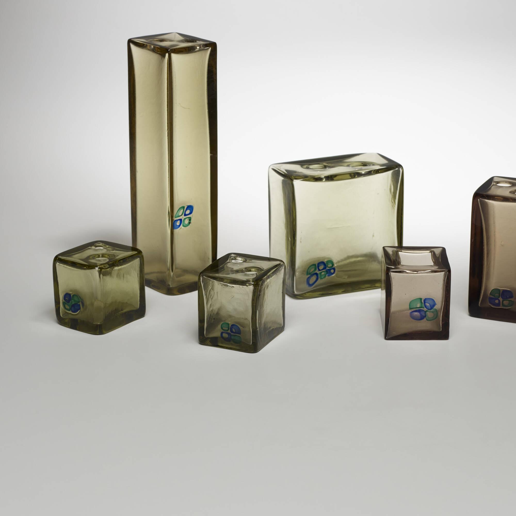 150: Fulvio Bianconi / collection of seven Sezione Quadrata vases (2 of 3)