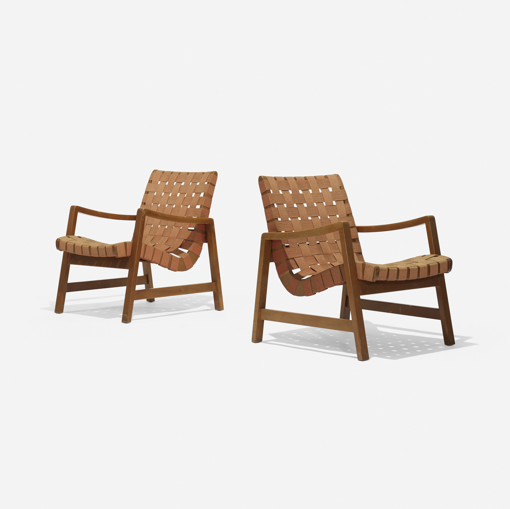 151: Jens Risom / Lounge Chairs Model 652 W, Pair (1 Of 4