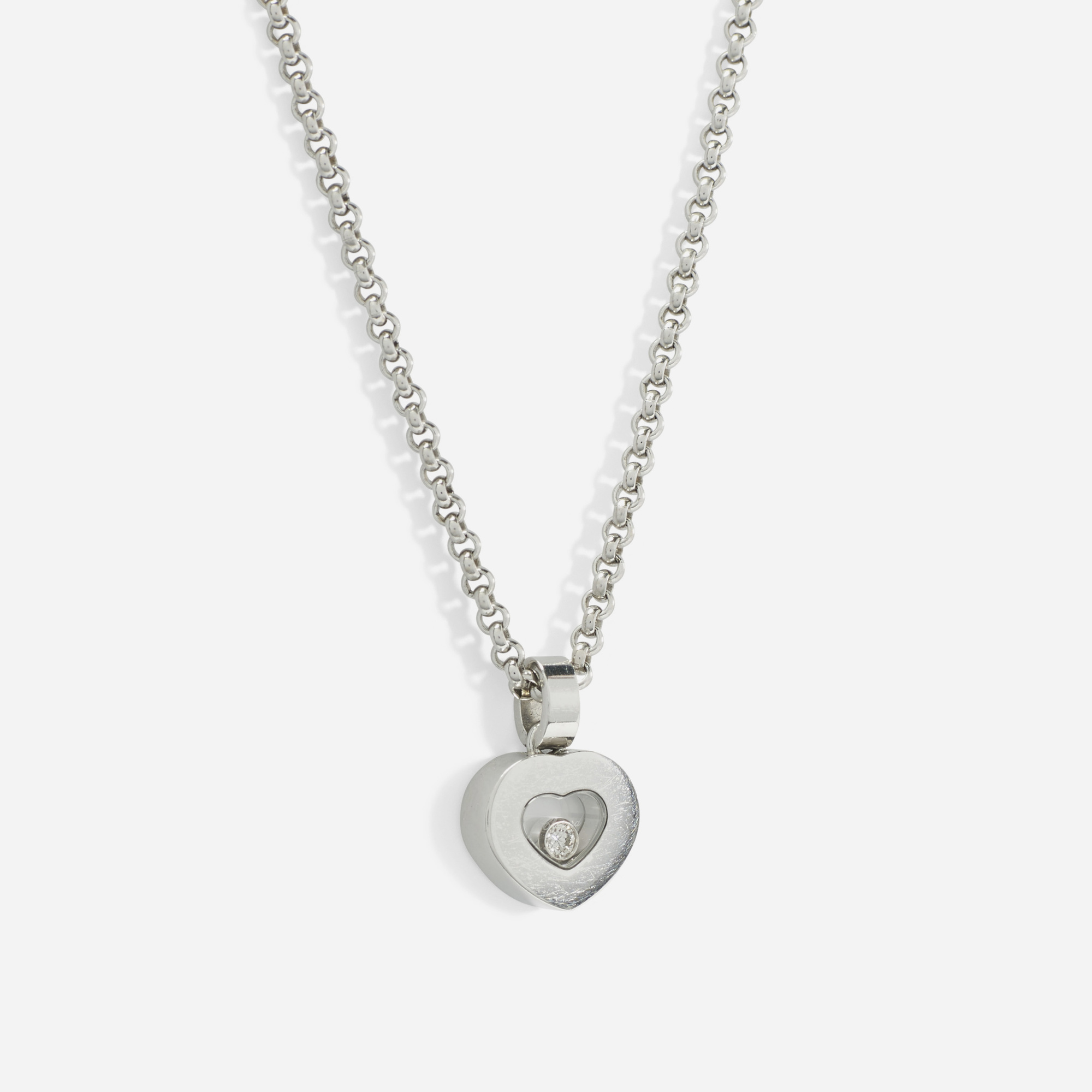151: Chopard / A gold Happy Diamond Heart necklace (1 of 1)
